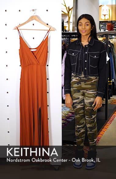 Surplice Neck Knit Maxi Dress, sales video thumbnail