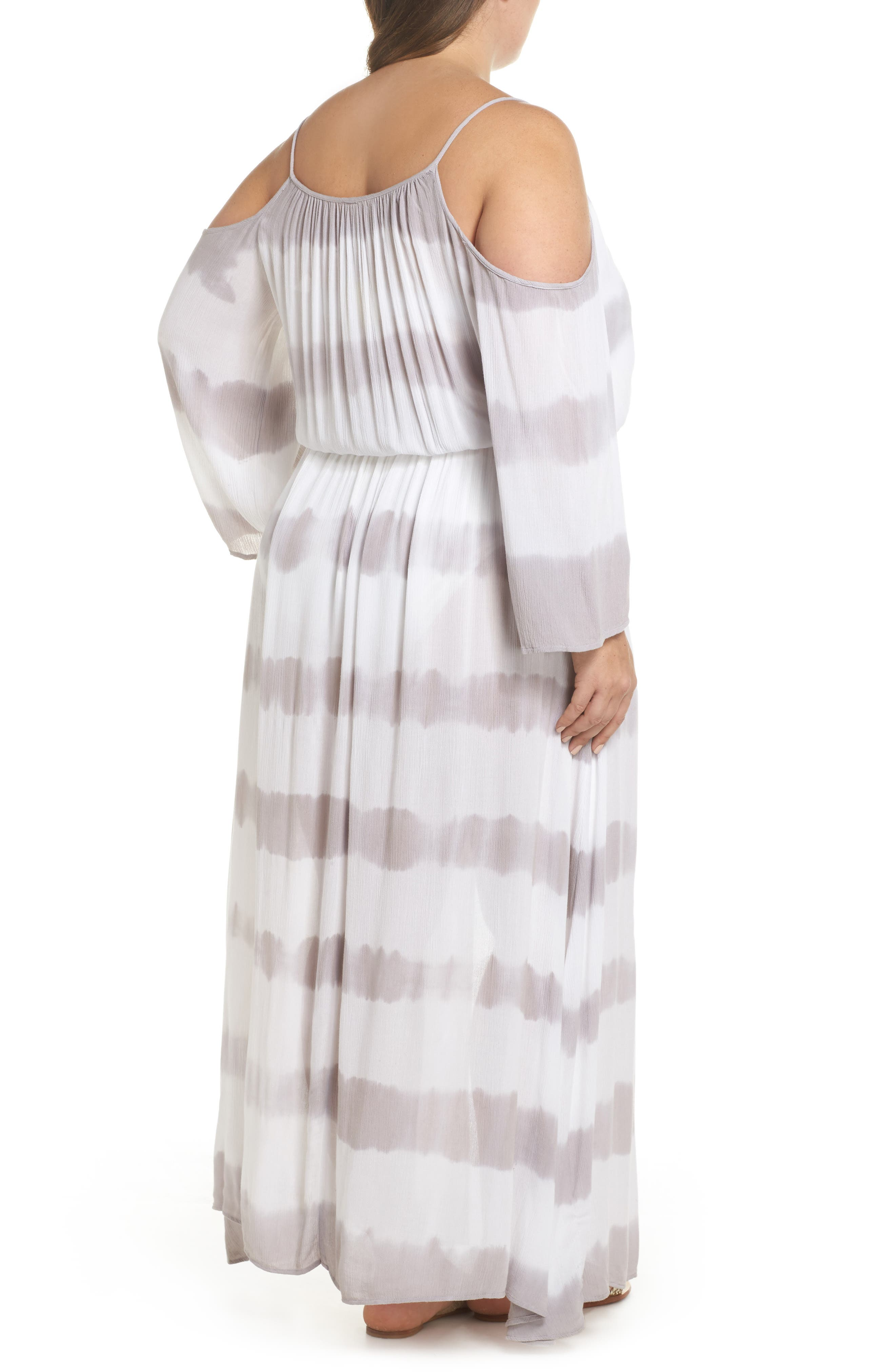 Cold Shoulder Cover-Up Maxi Dress,                             Alternate thumbnail 2, color,                             032