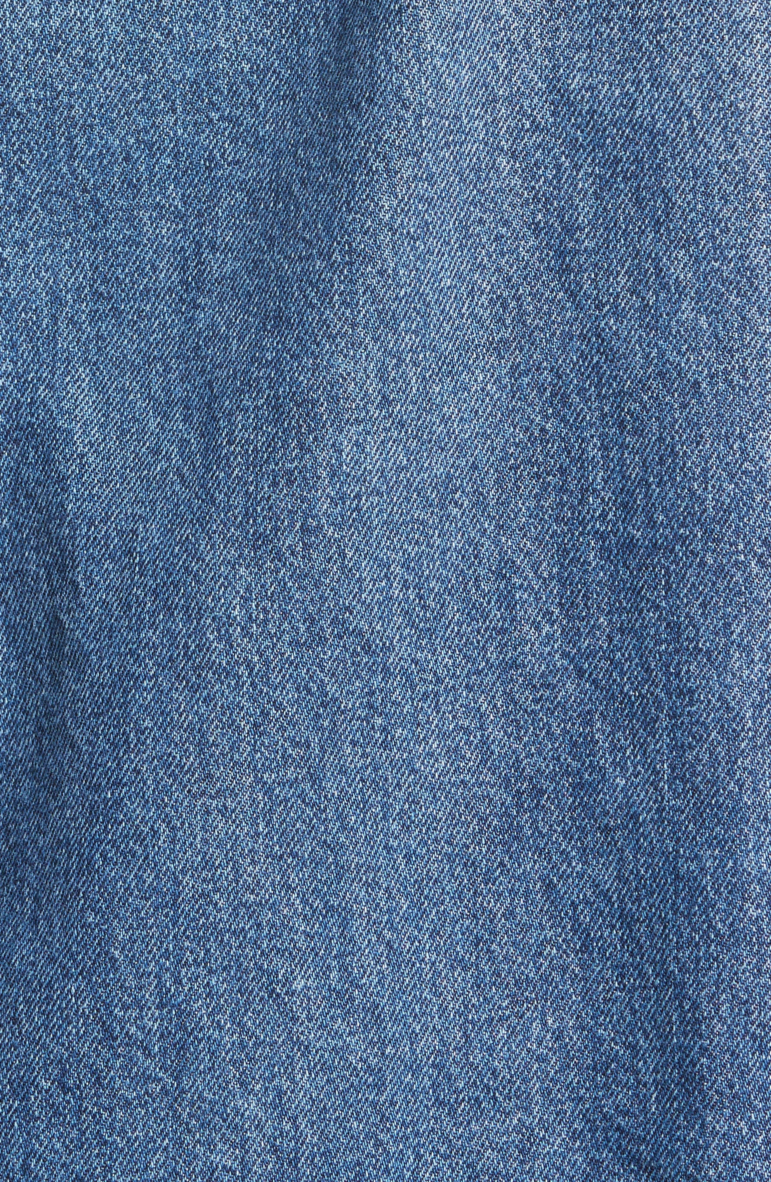 Tent Denim Jacket,                             Alternate thumbnail 5, color,                             MID BLUE