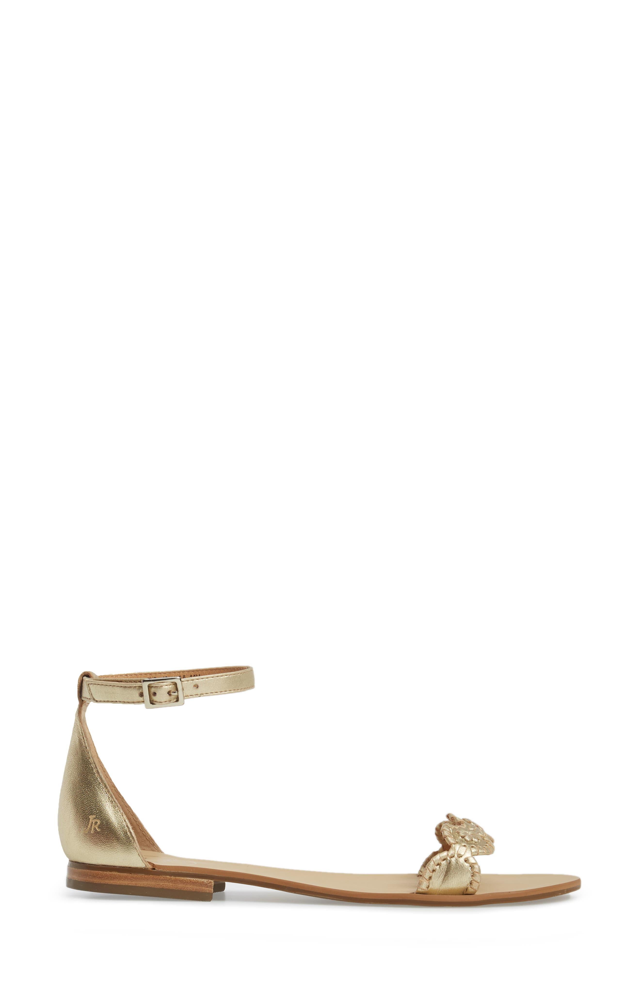 Daphne Medallion Flat Sandal,                             Alternate thumbnail 11, color,