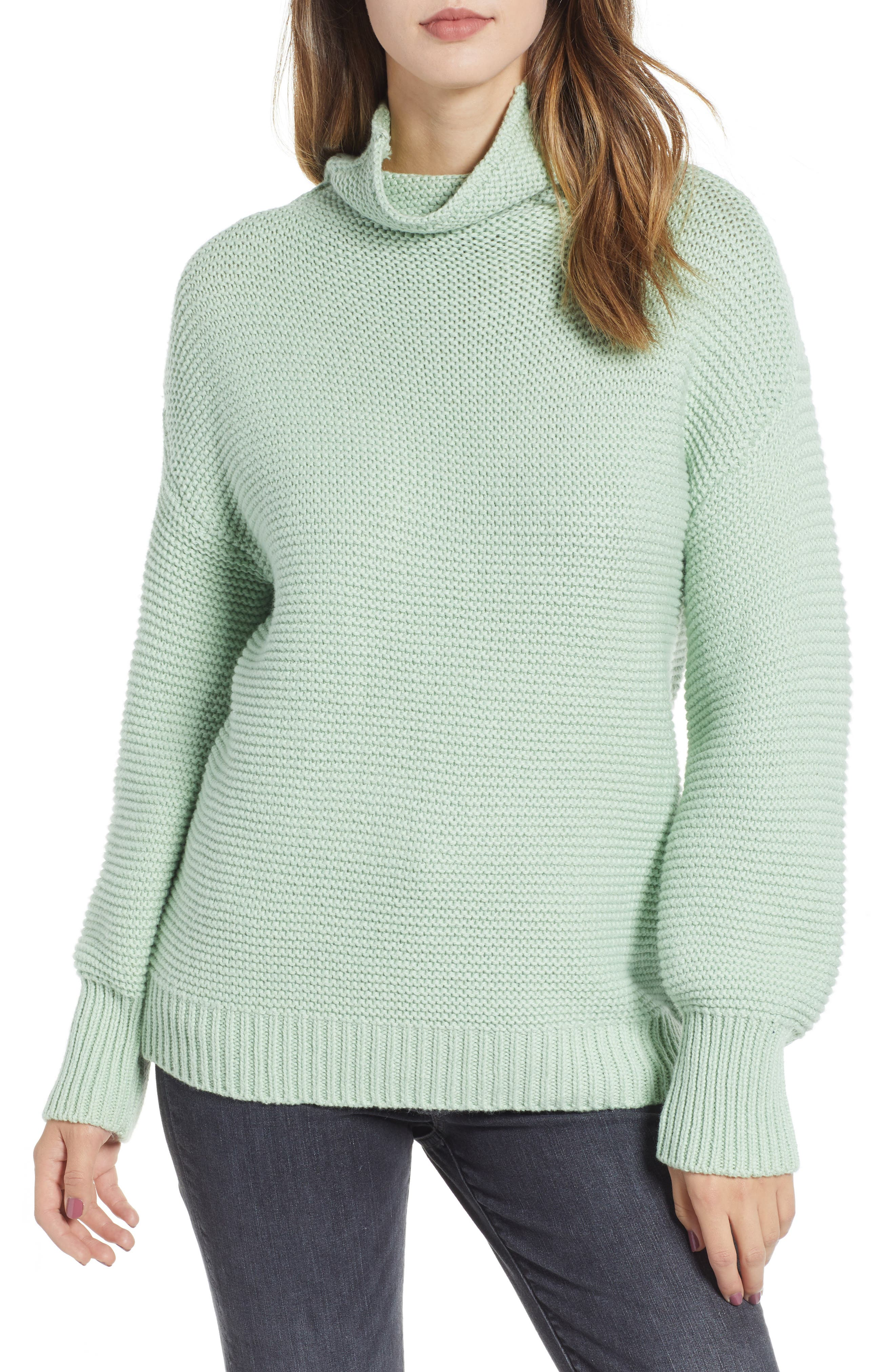 Turtleneck Sweater,                         Main,                         color, GREEN GHOST