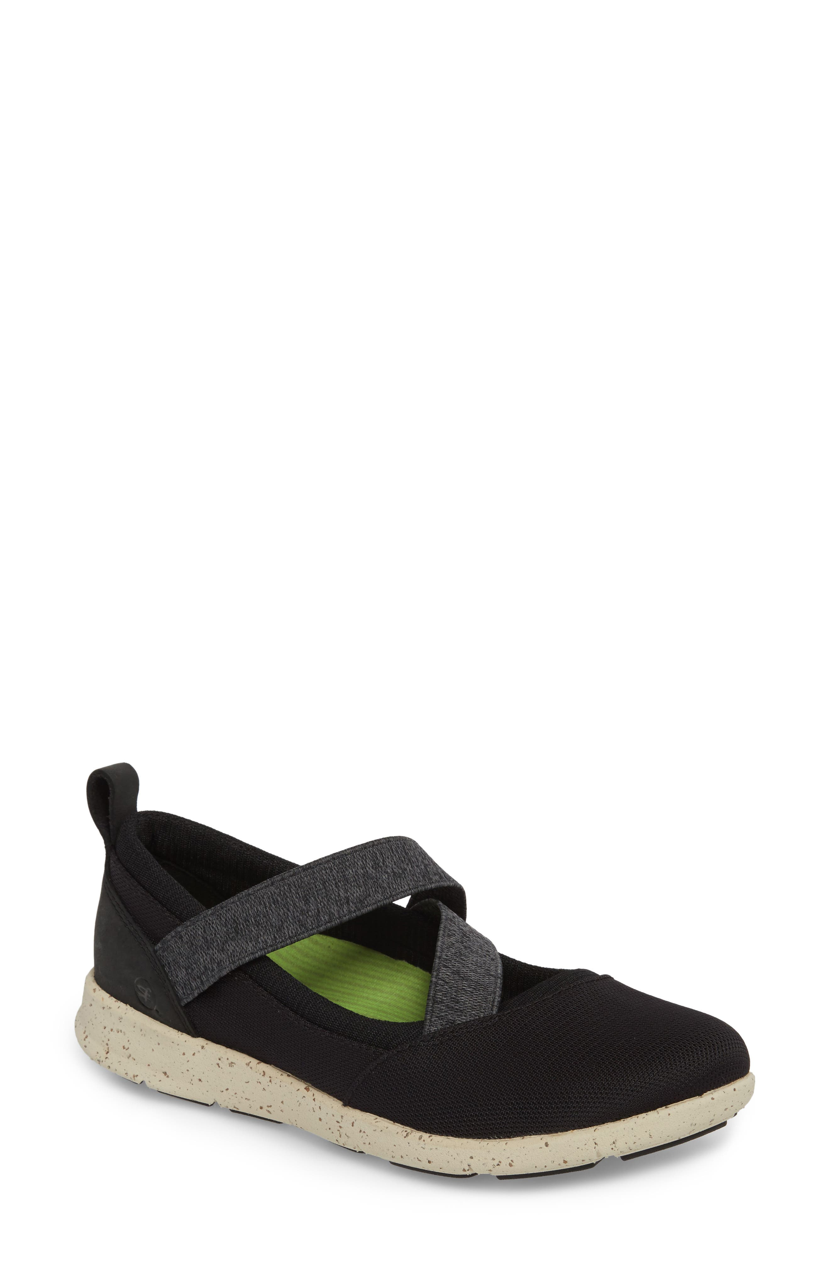 SUPERFEET Palisade Sneaker, Main, color, BLACK LEATHER