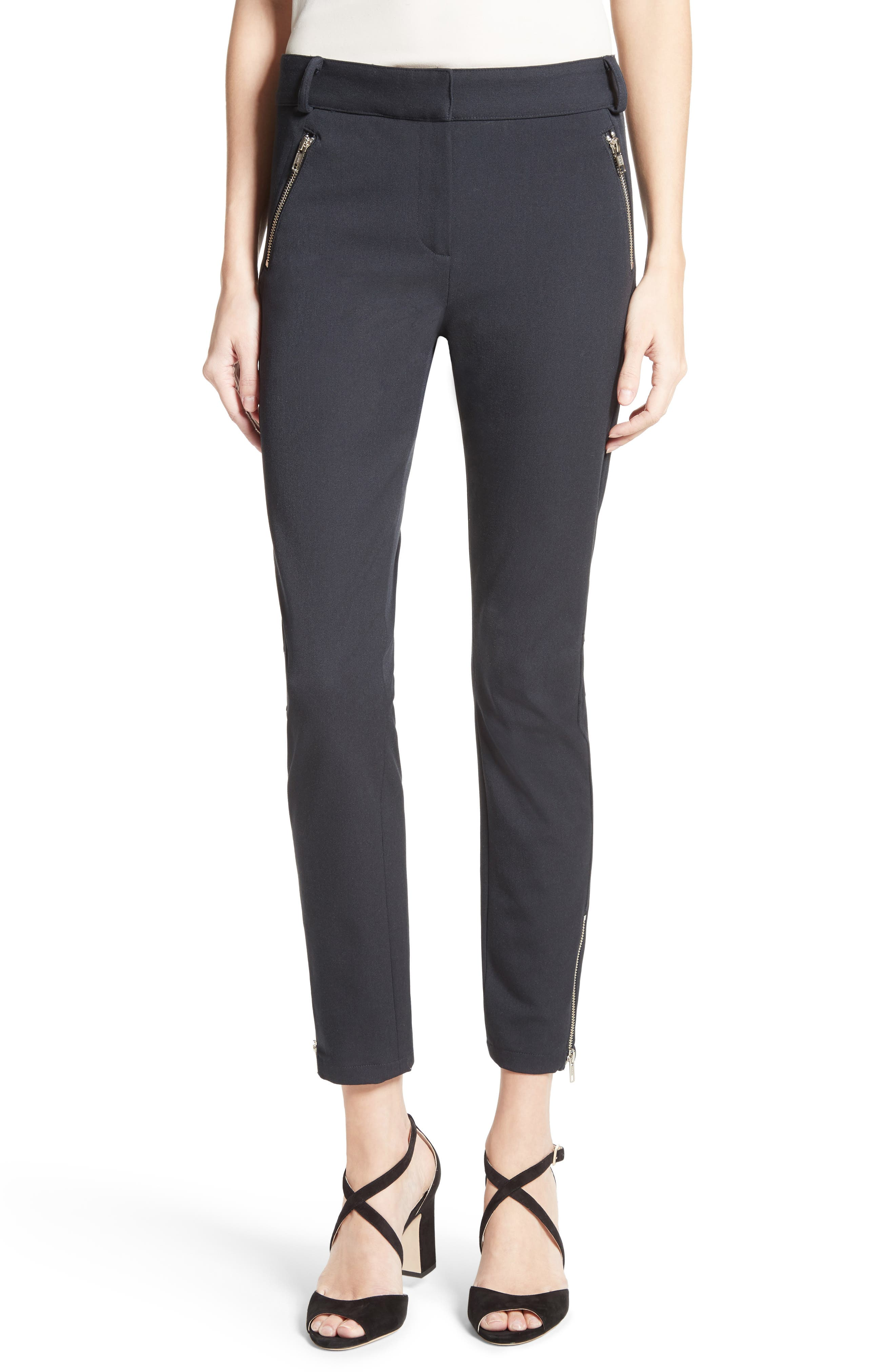 Ash Seamed Skinny Pants,                             Main thumbnail 1, color,                             001