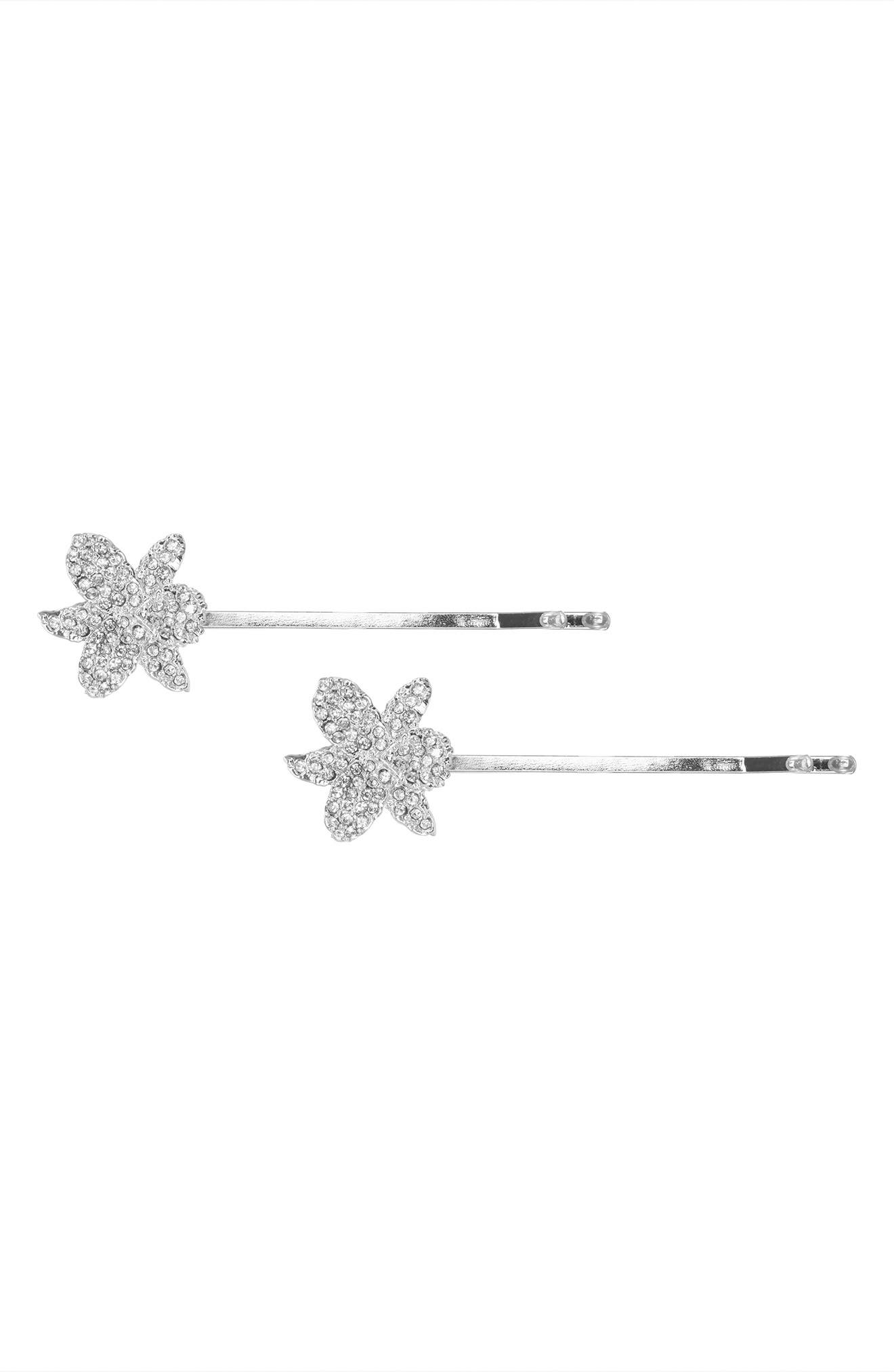 Small Orchid Bobby Pins,                             Alternate thumbnail 2, color,