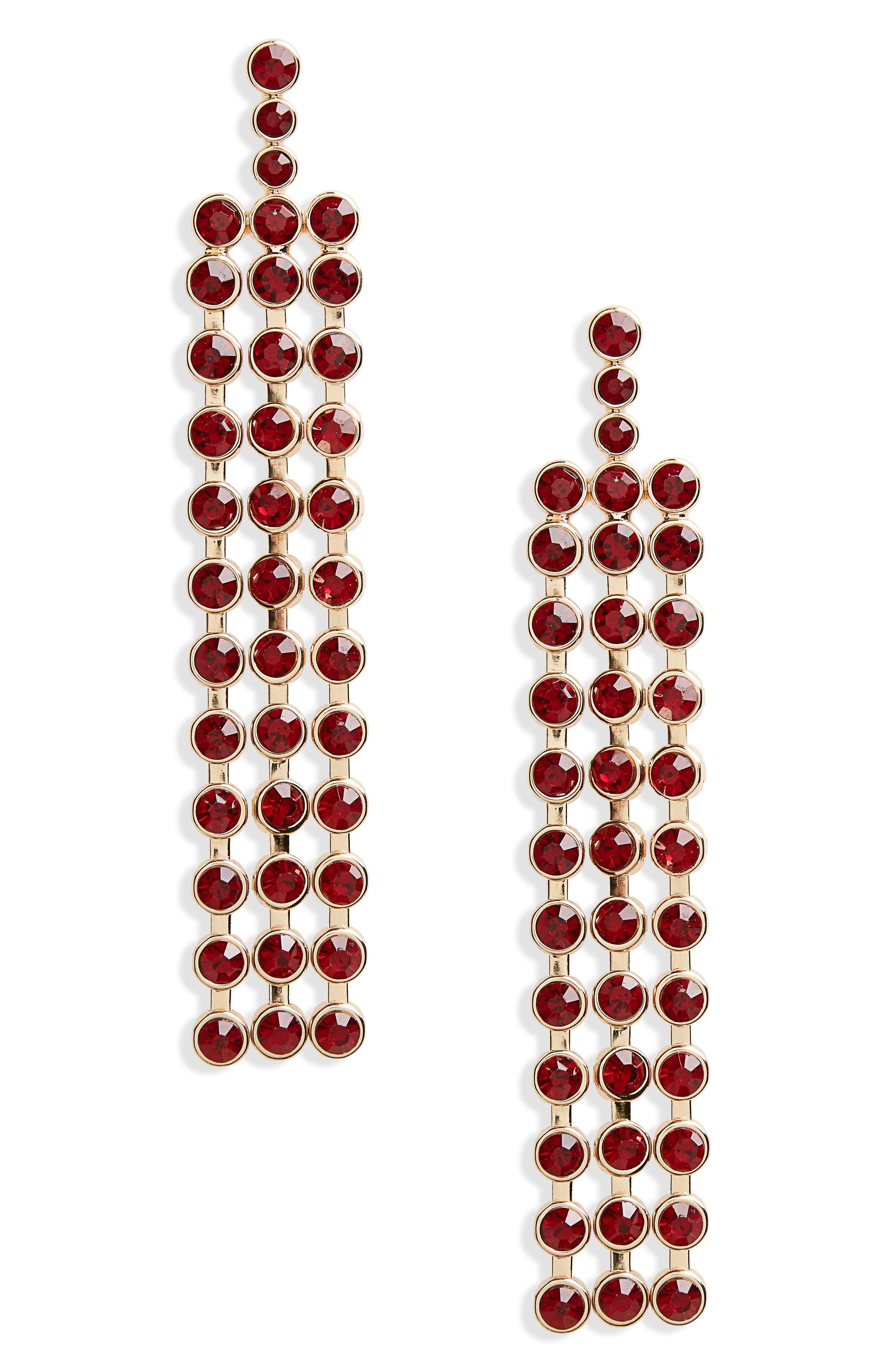 Stone Fringe Drop Earrings,                         Main,                         color, 710