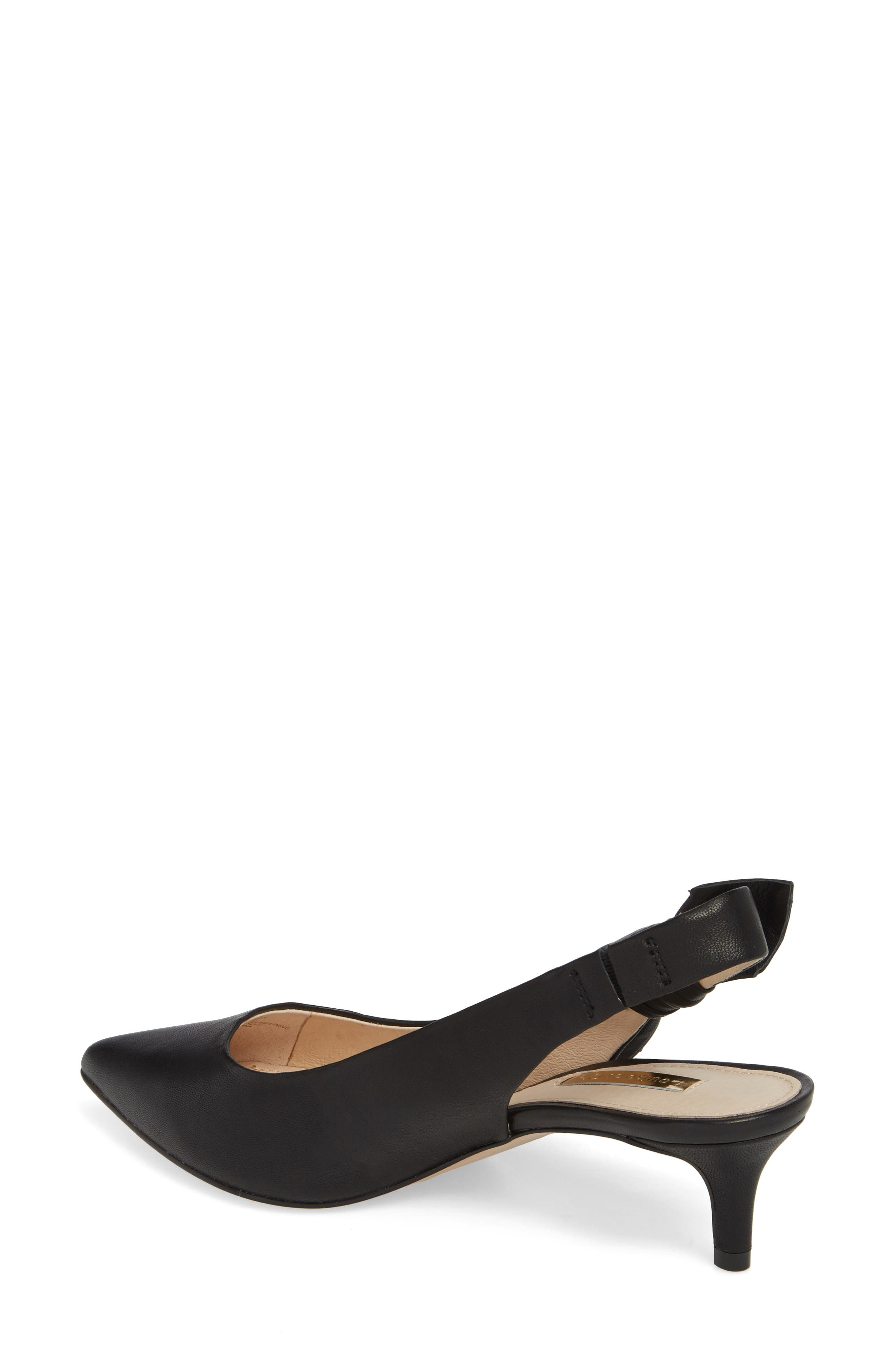 Jasilen Slingback Pump,                             Alternate thumbnail 2, color,                             BLACK LEATHER