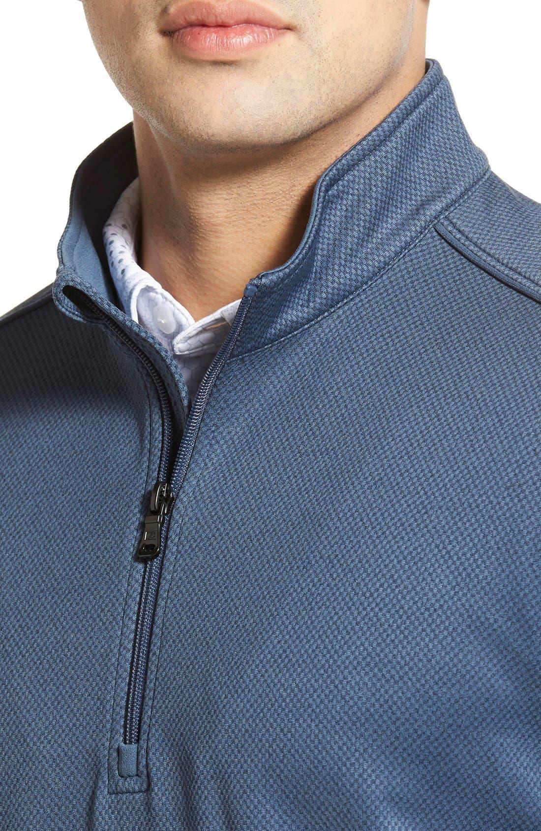 'Weather Tec Orbit' Half Zip Pullover,                             Alternate thumbnail 4, color,                             015