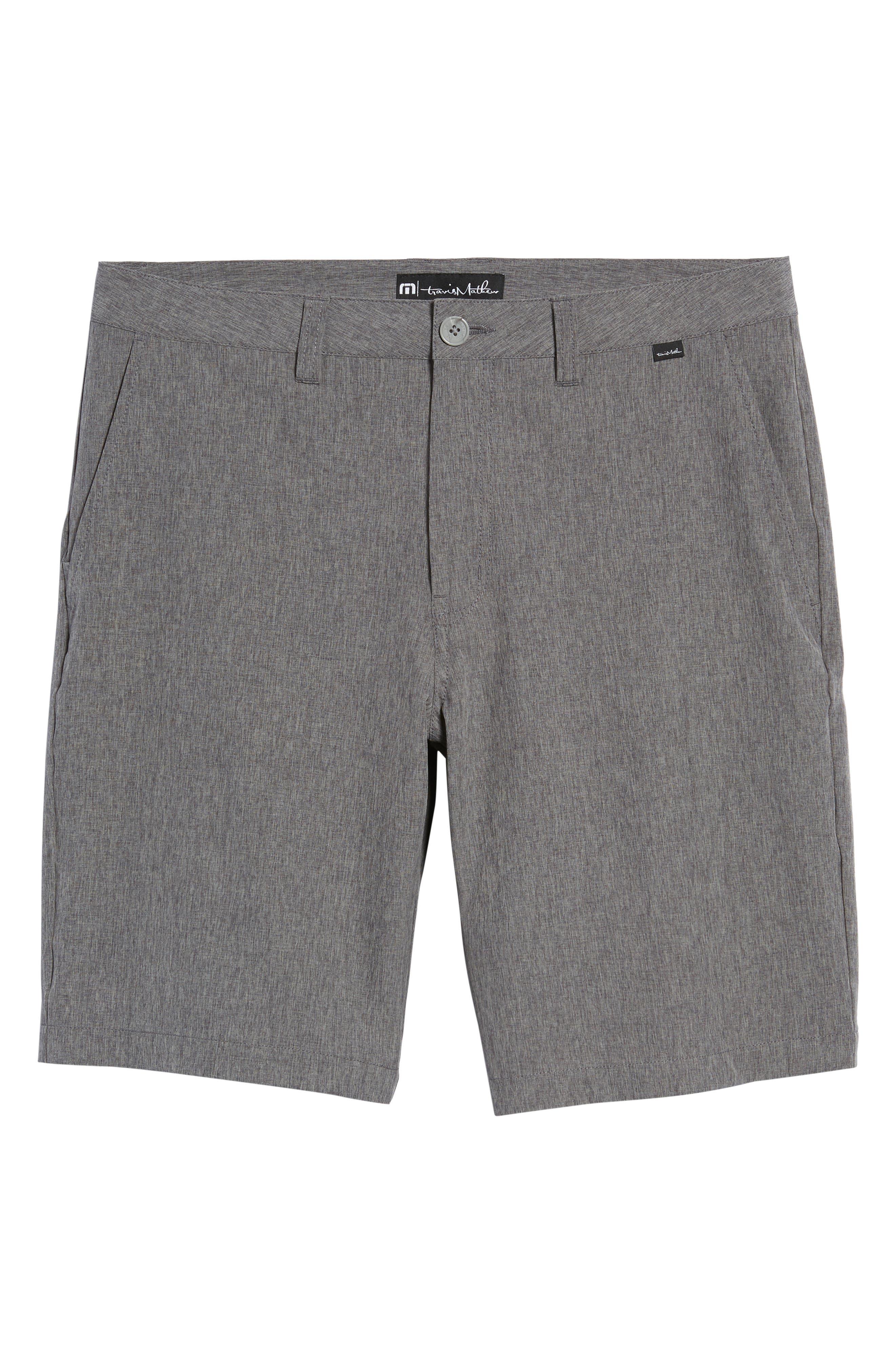 'Palladium' Performance Stretch Heathered Golf Shorts,                             Alternate thumbnail 6, color,                             021