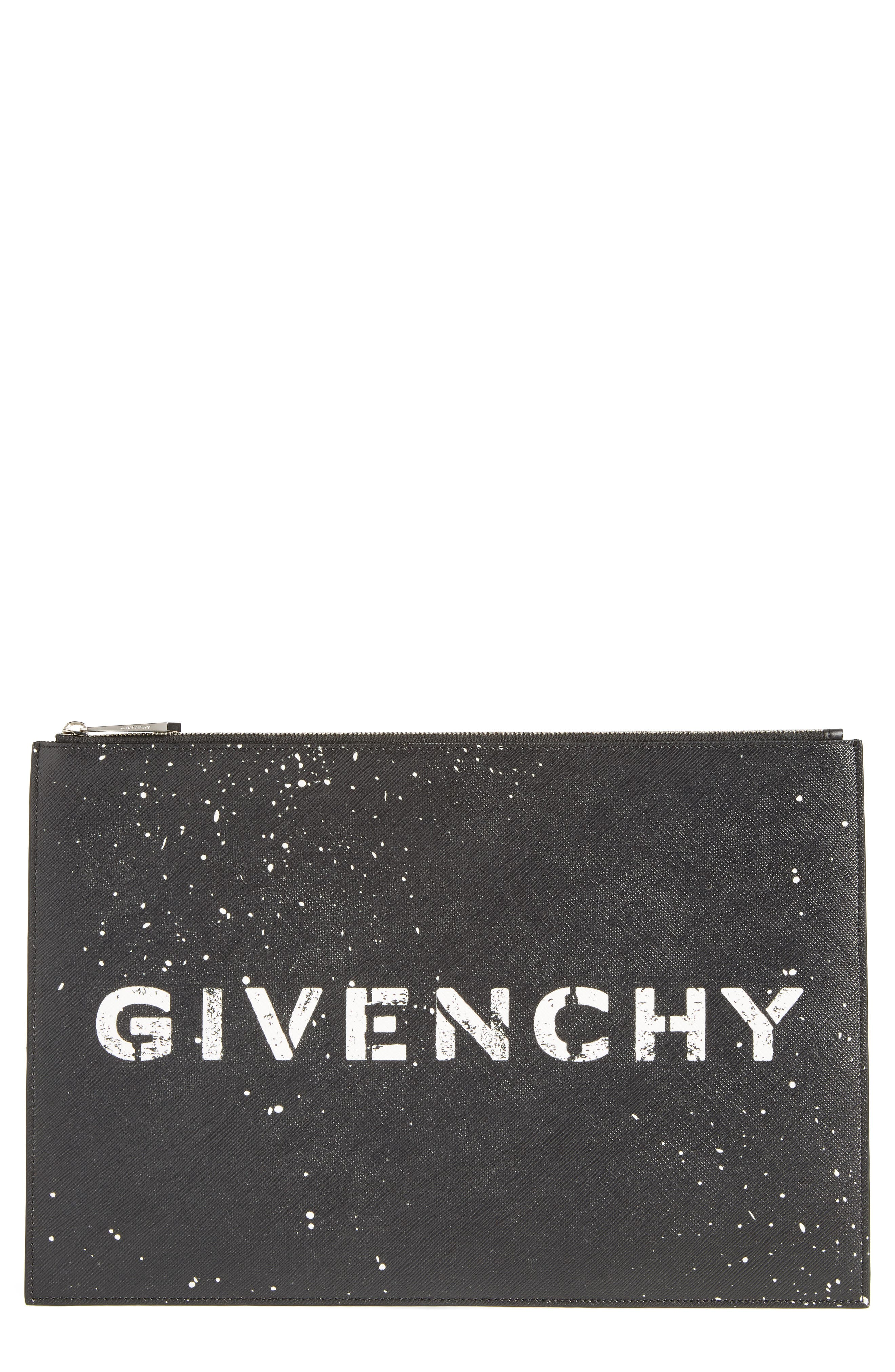 Iconic Faux Leather Pouch,                         Main,                         color, 001