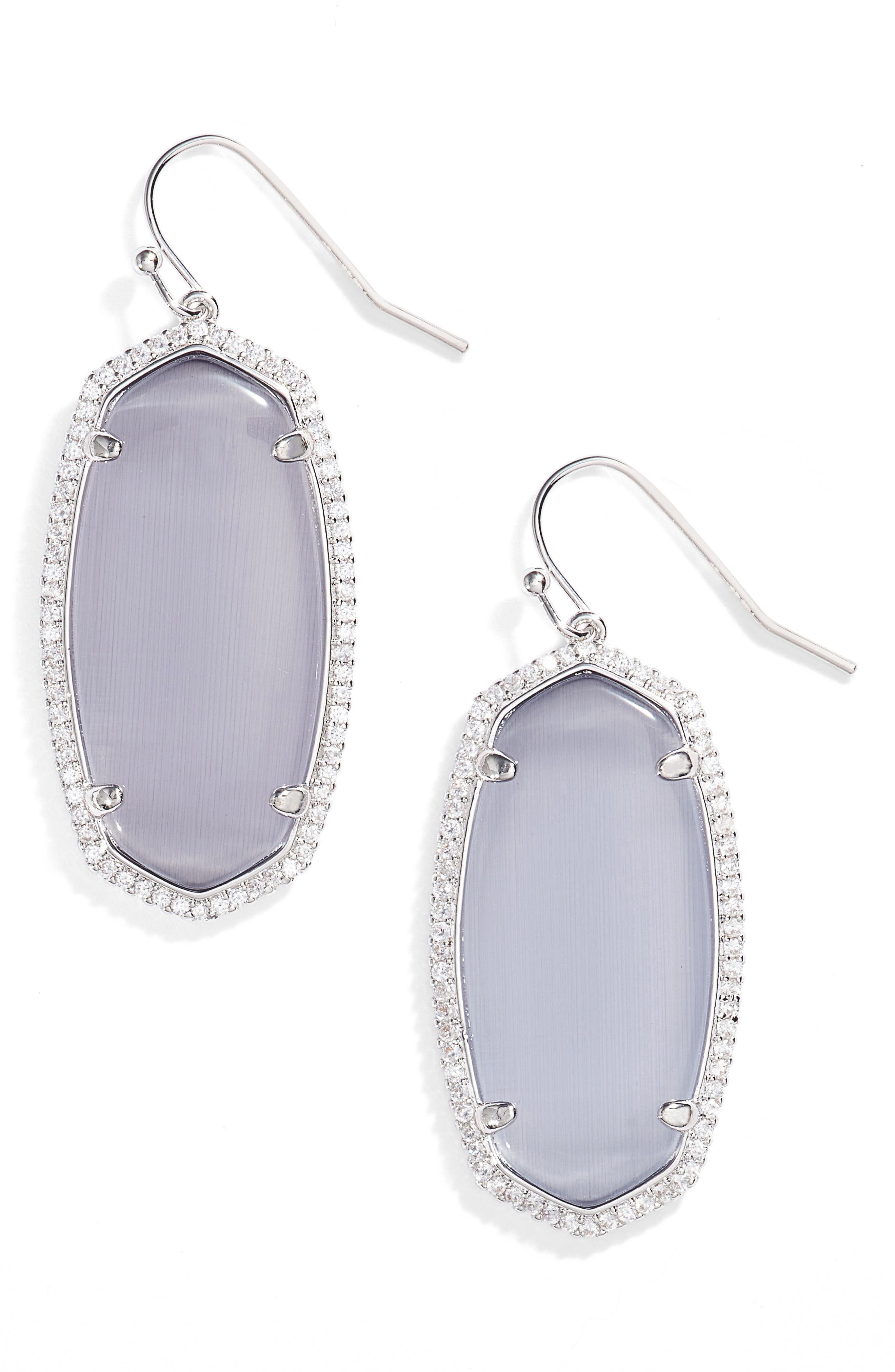 Elle Pavé Drop Earrings,                             Main thumbnail 1, color,                             020