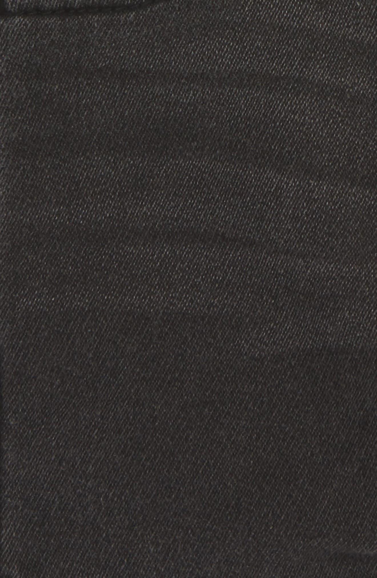 Knit Denim Shorts,                             Alternate thumbnail 2, color,                             PEBBLE GREY