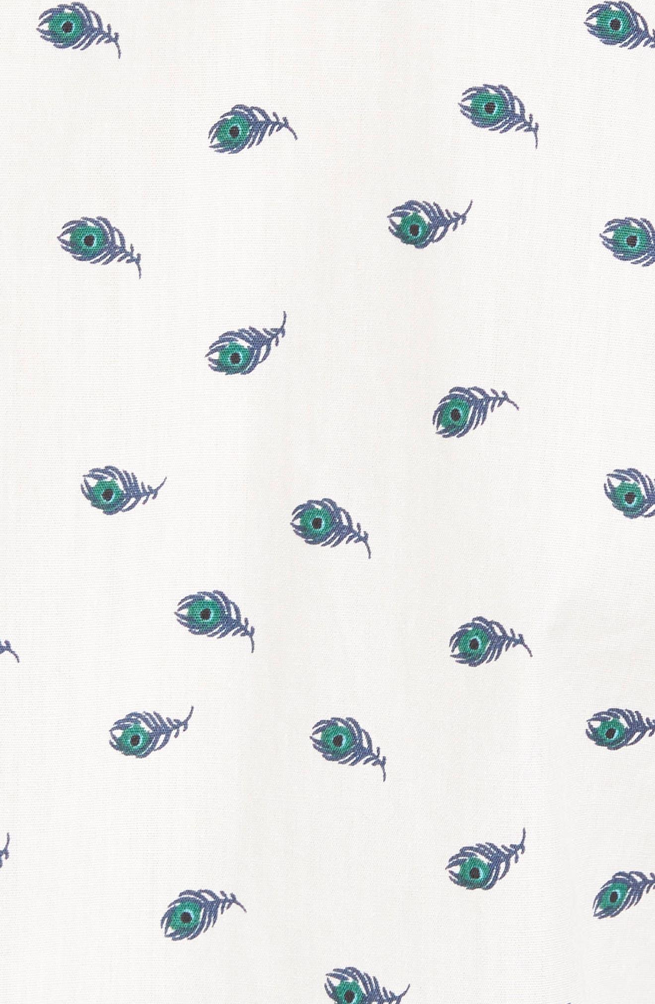 Peacock Feather Woven Shirt,                             Alternate thumbnail 5, color,                             111