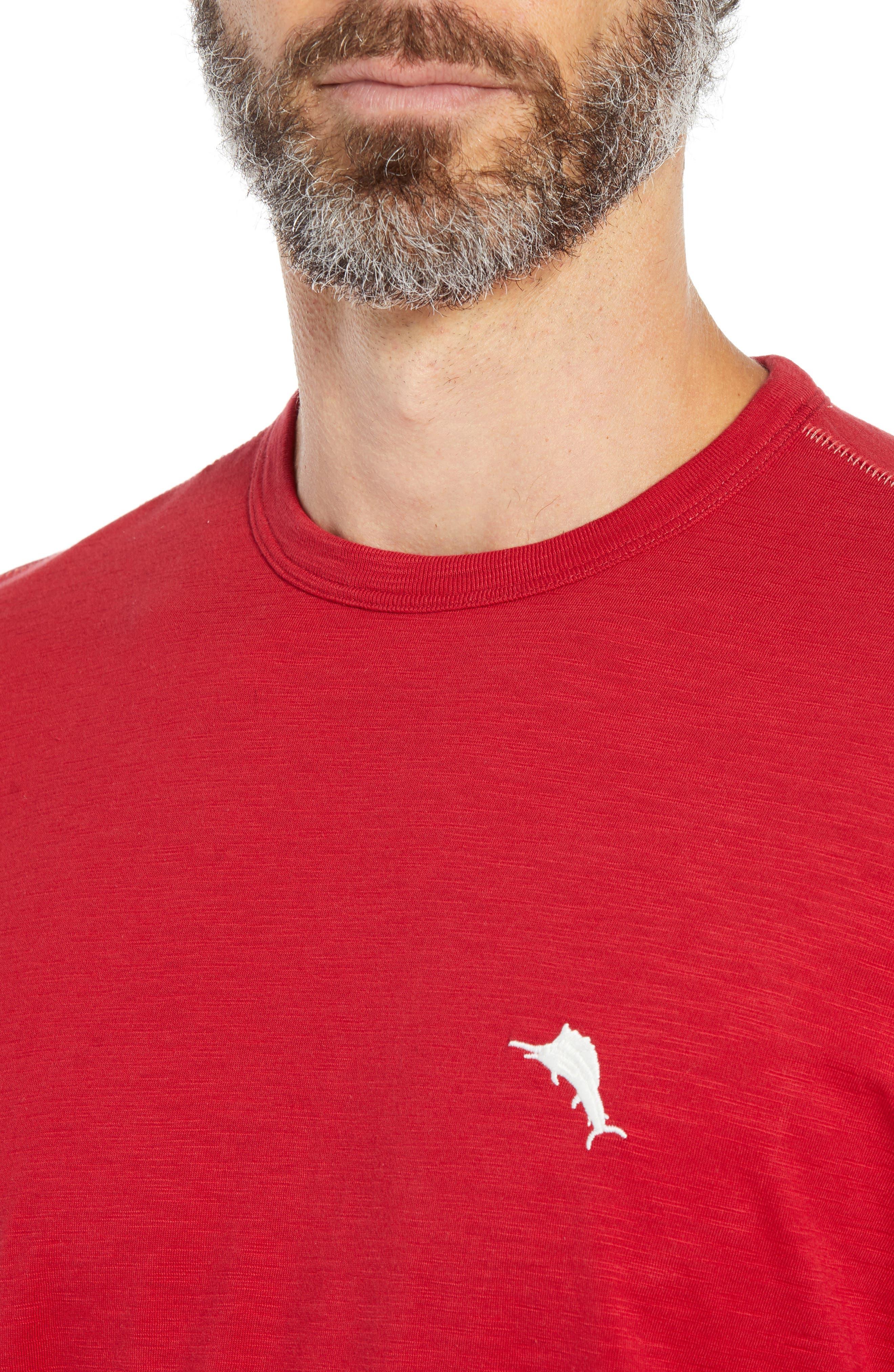 Mele Kalikimaka T-Shirt,                             Alternate thumbnail 4, color,                             SCOOTER RED