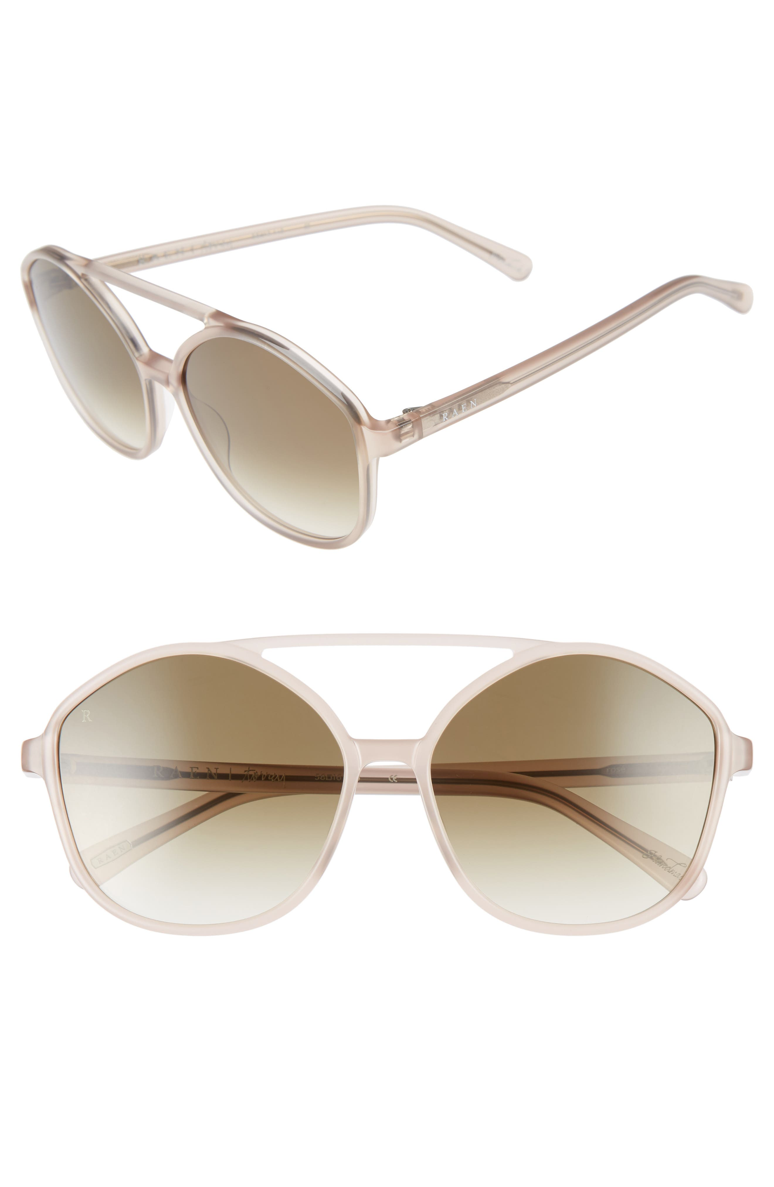 RAEN,                             Torrey 58mm Aviator Sunglasses,                             Main thumbnail 1, color,                             FLESH