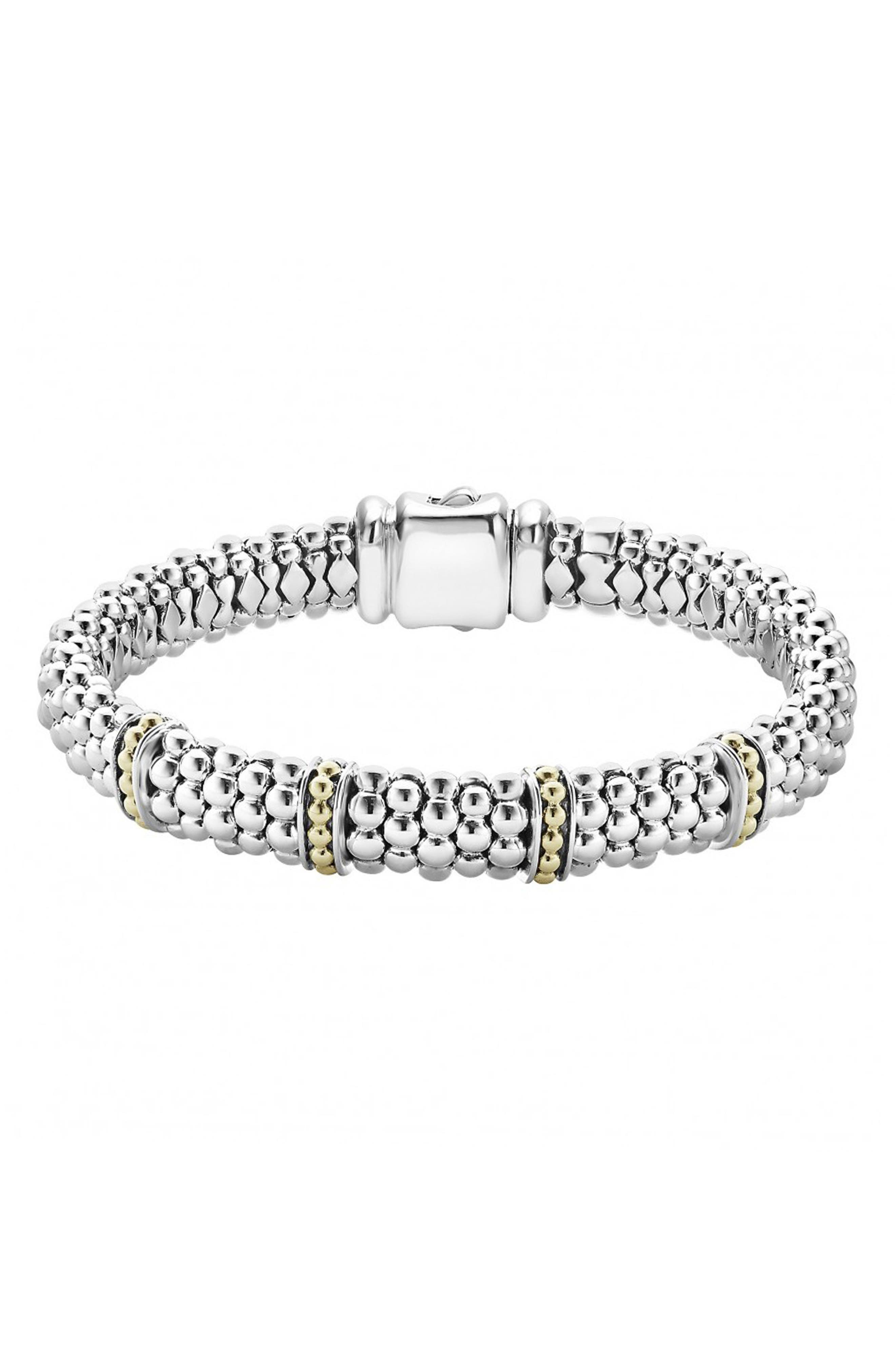 'Enso' Two-Tone Rope Caviar<sup>™</sup> Bracelet,                         Main,                         color, SILVER/ GOLD