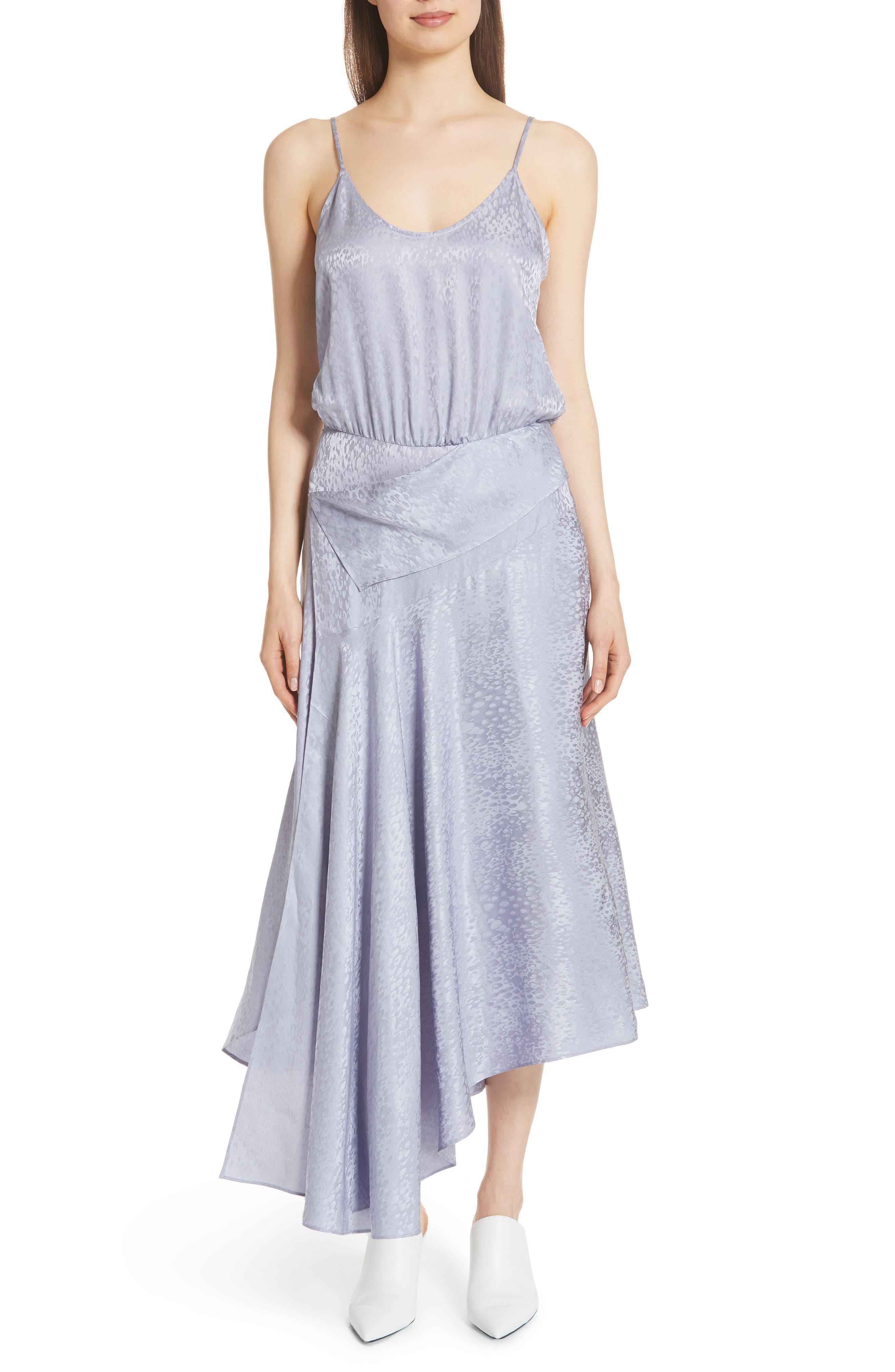 A.L.C. Willa Asymmetrical Silk Jacquard Dress, Main, color, 540