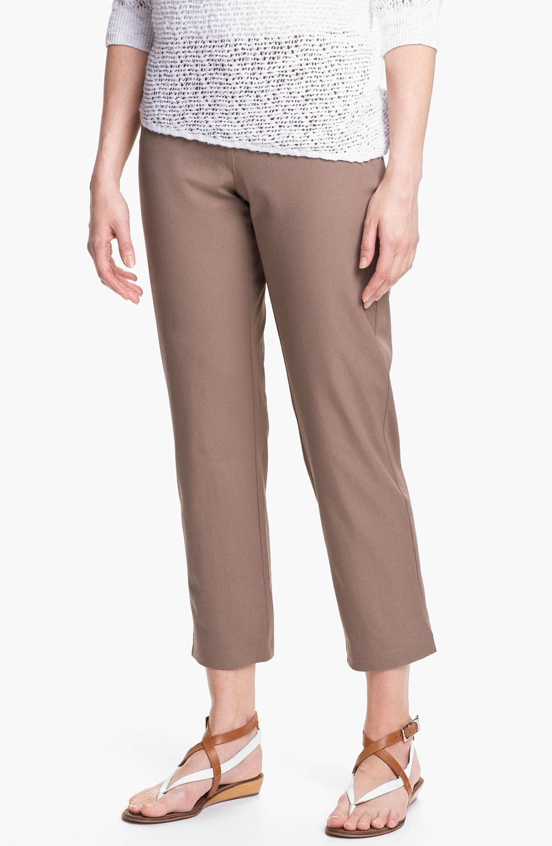 Organic Stretch Cotton Twill Ankle Pants,                             Main thumbnail 21, color,