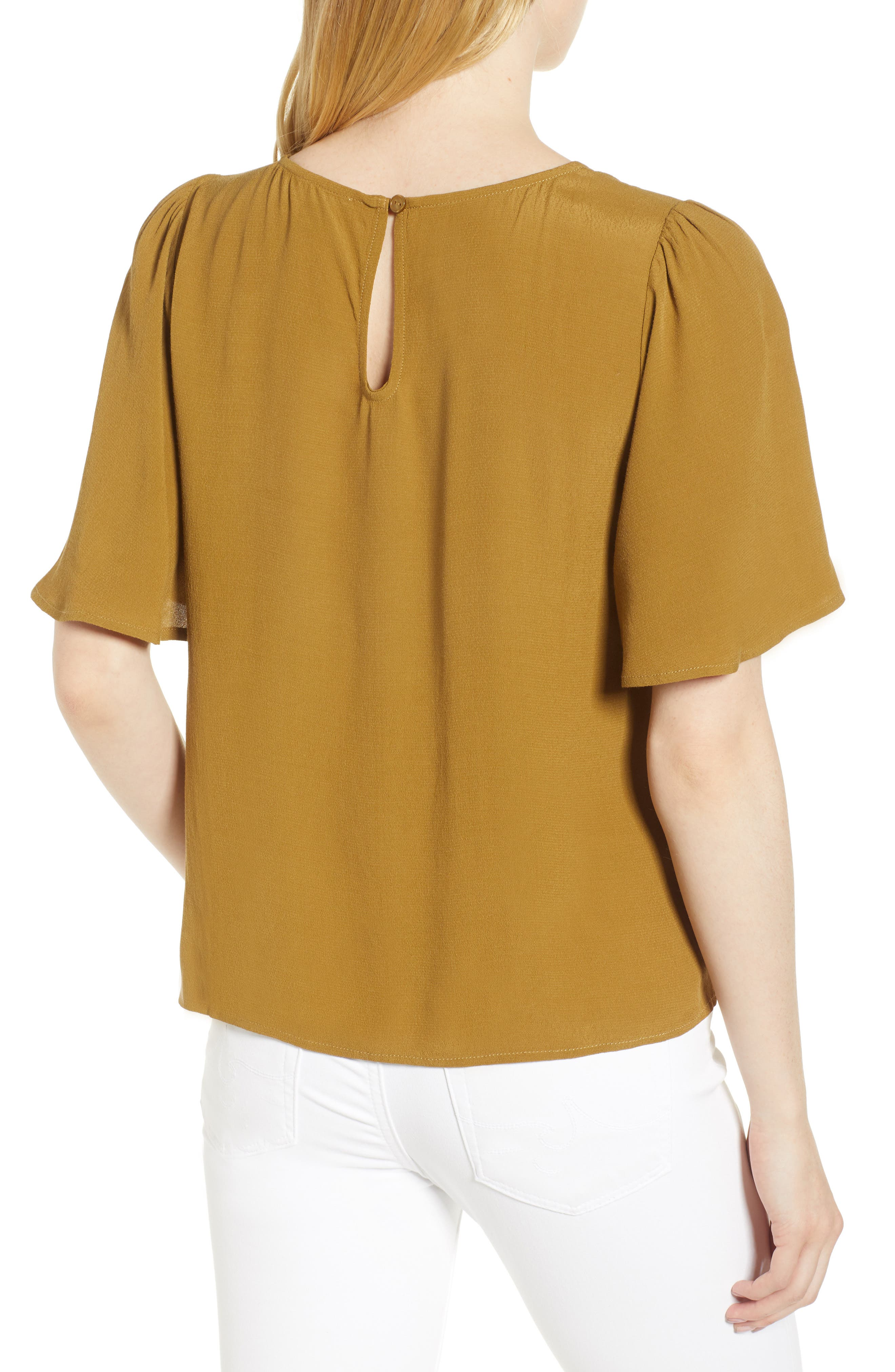 Ruffle Tie Front Top,                             Alternate thumbnail 7, color,