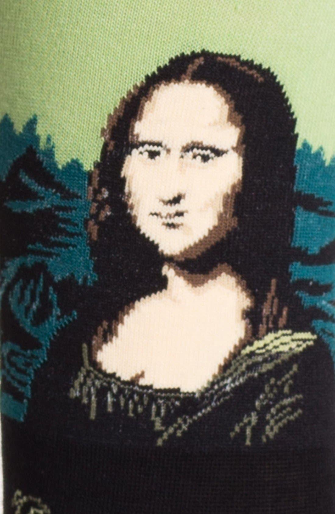 'Mona Lisa' Socks,                             Alternate thumbnail 2, color,                             330