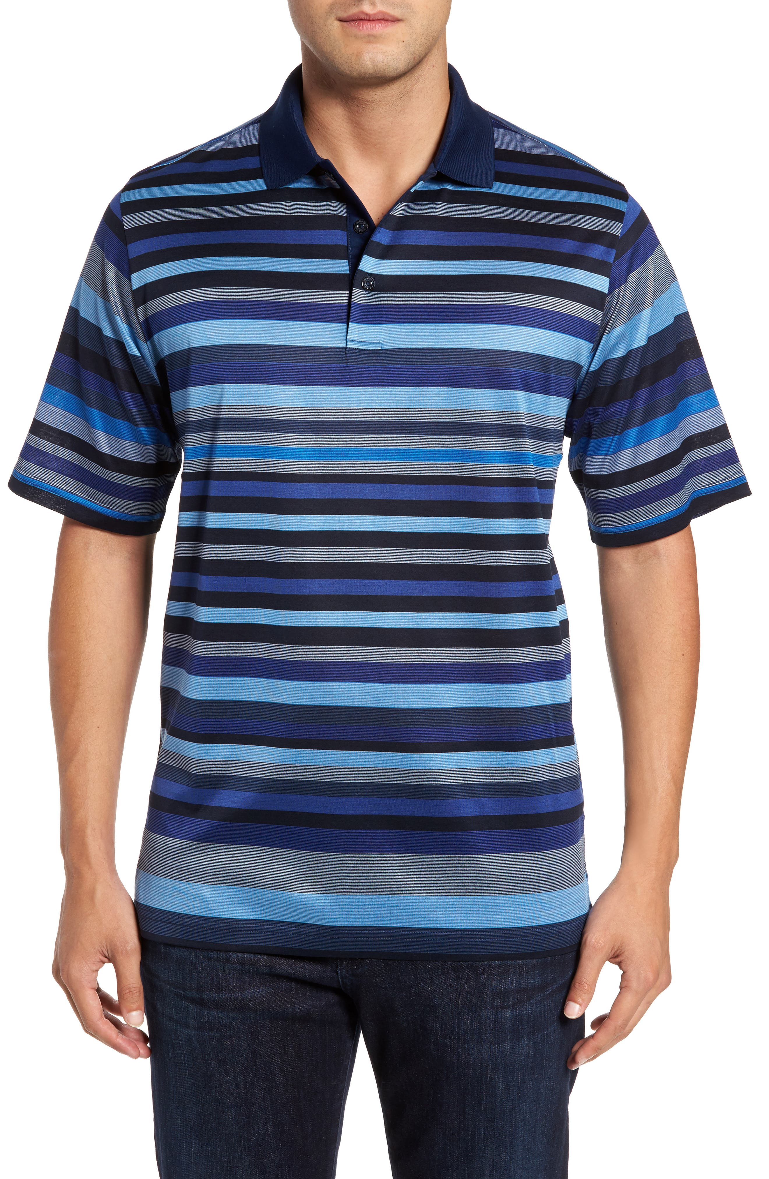 Classic Fit Stripe Jersey Polo,                             Main thumbnail 1, color,                             411