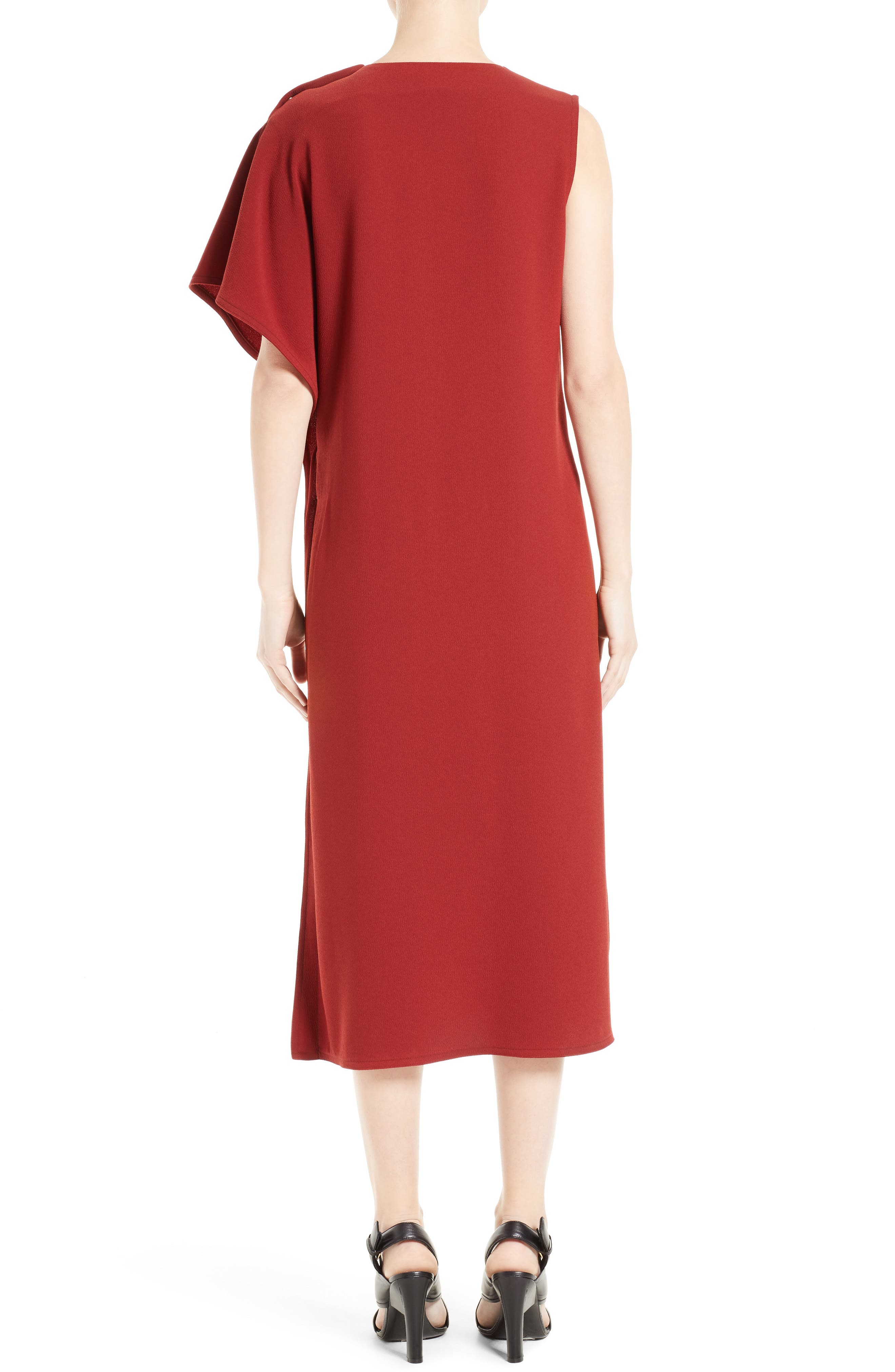 Crepe Asymmetrical Dress,                             Alternate thumbnail 2, color,