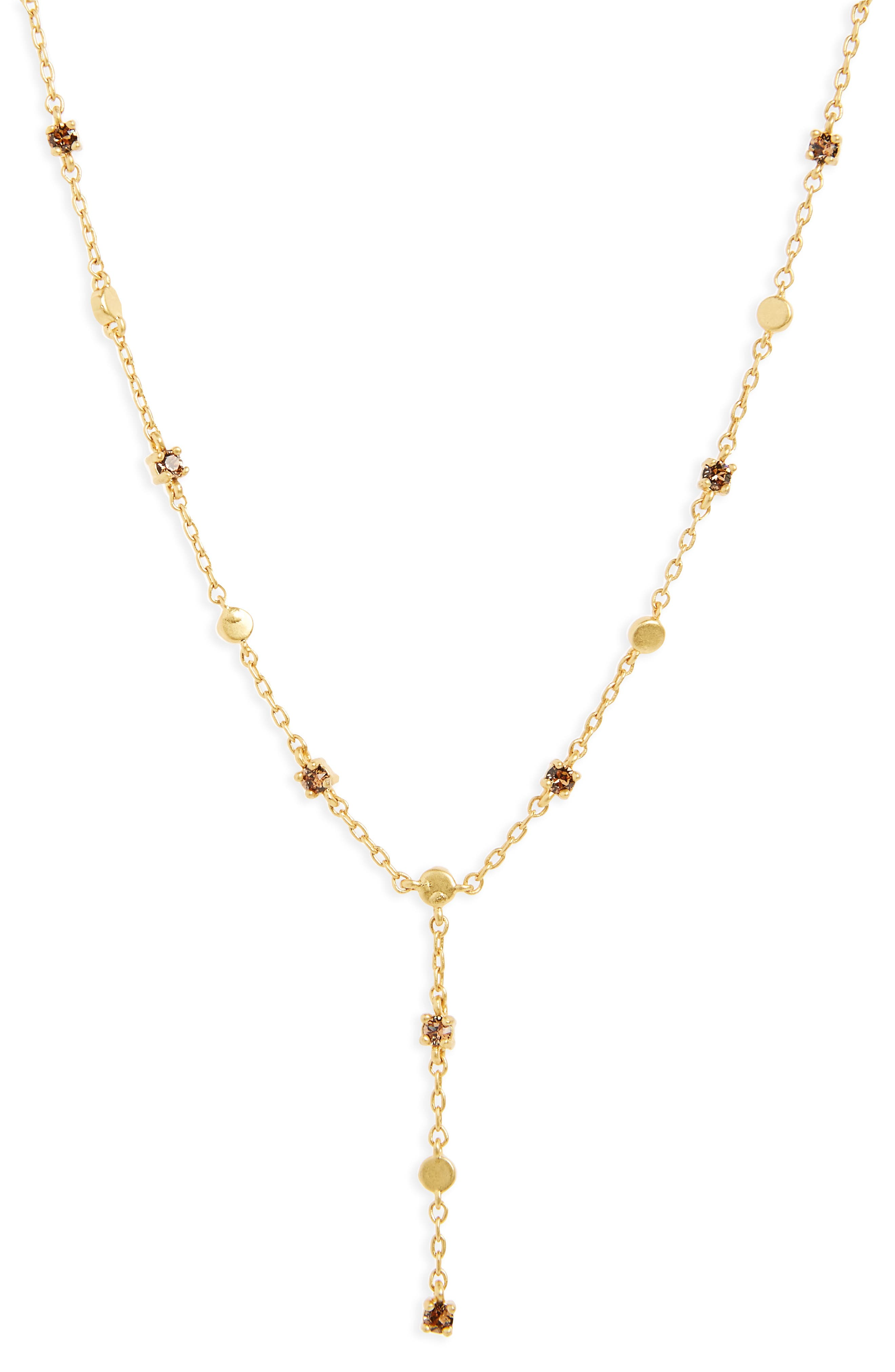 Gem Line Lariat Necklace,                             Main thumbnail 1, color,                             710