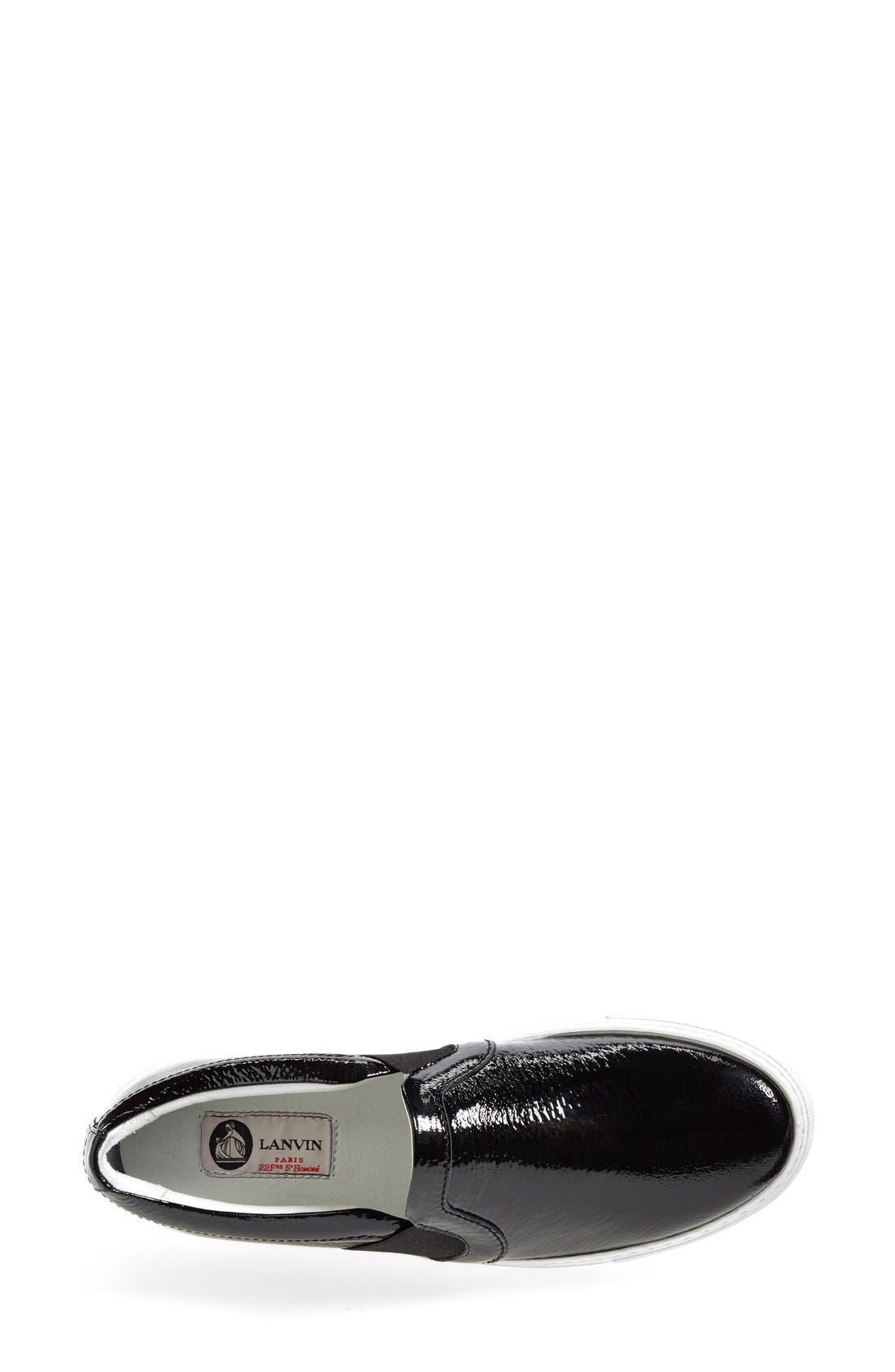 Patent Leather Skate Sneaker,                             Alternate thumbnail 4, color,