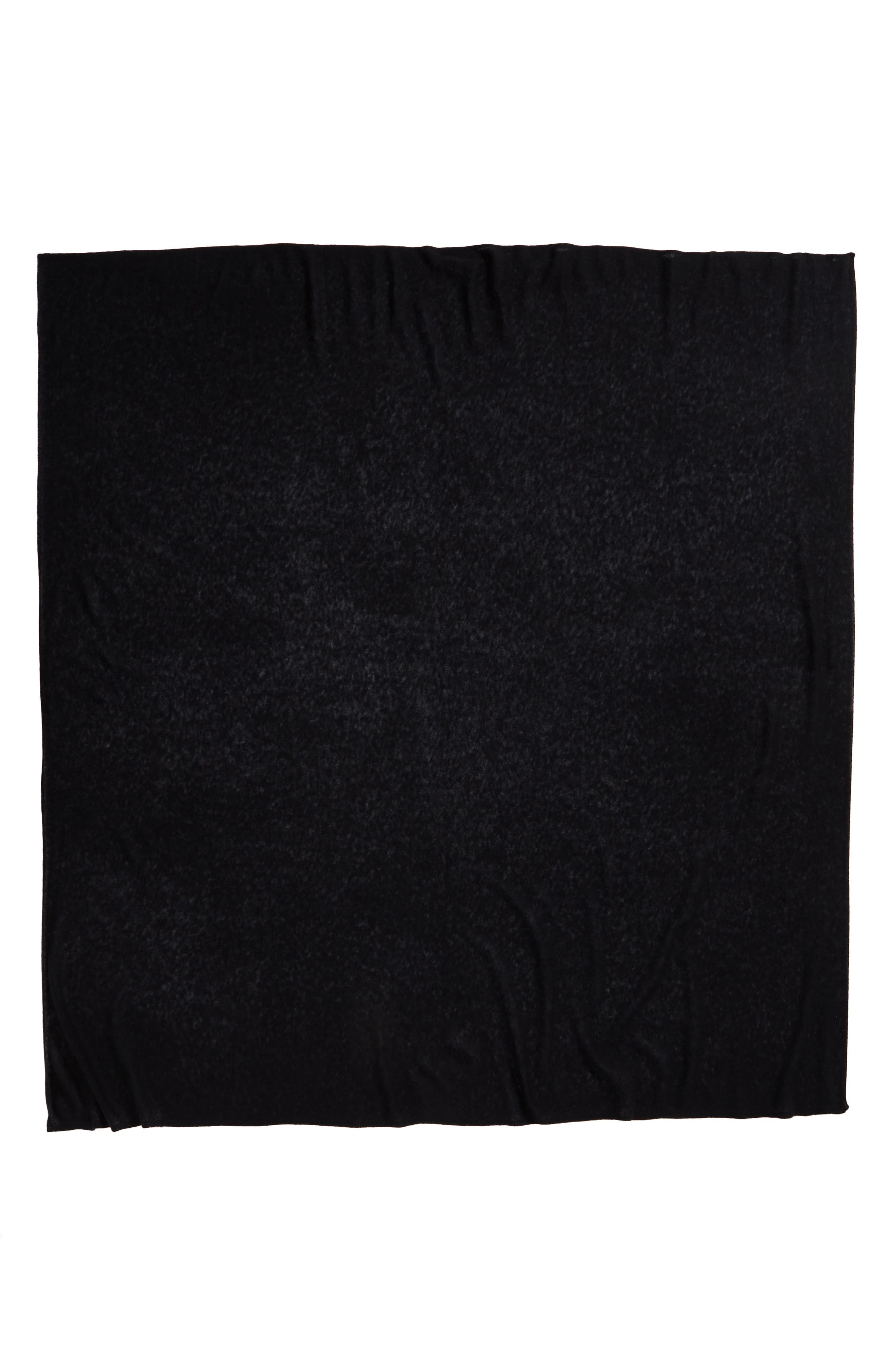 Lightweight Cashmere Scarf,                             Alternate thumbnail 3, color,                             BLACK