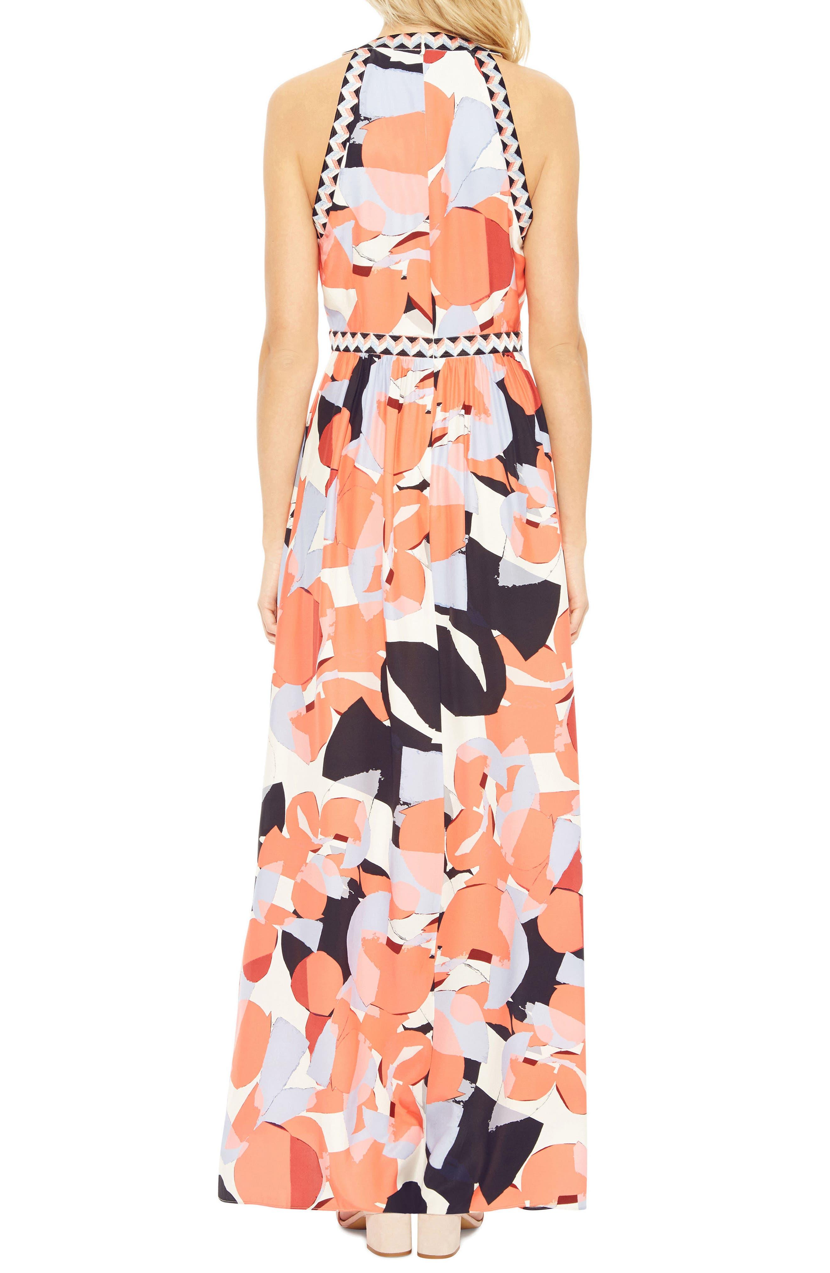 Luella Silk Maxi Dress,                             Alternate thumbnail 2, color,