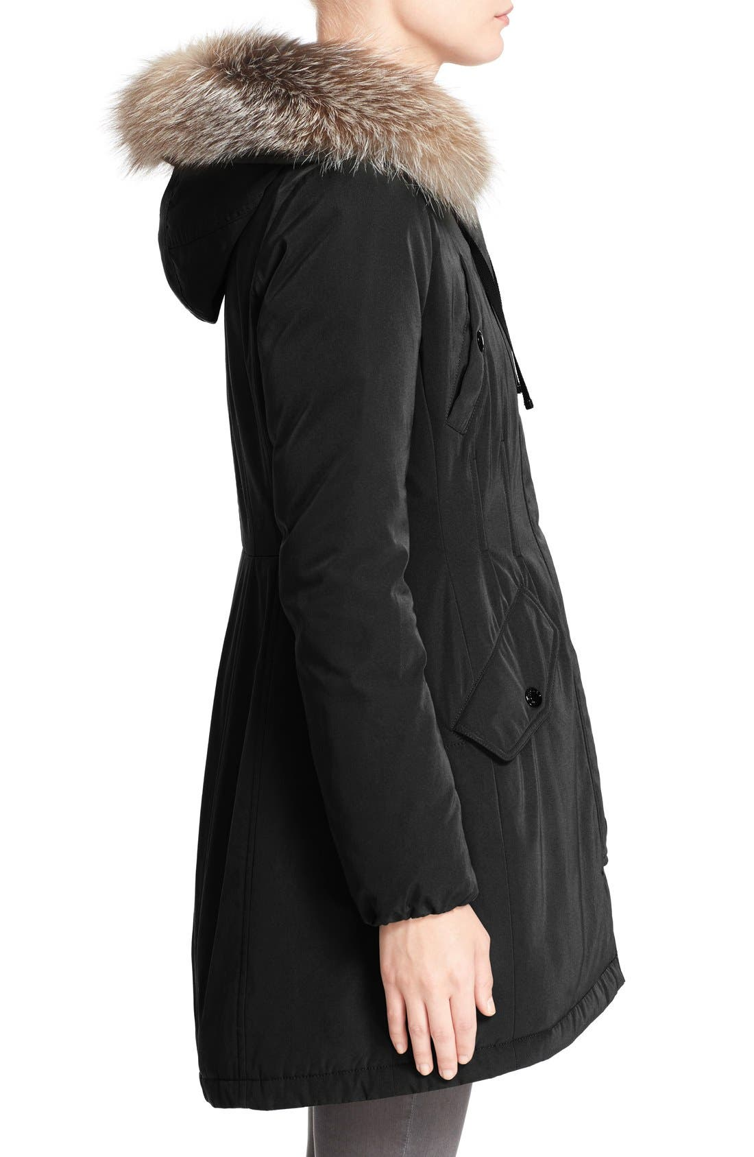 Aredhel Hooded Down Parka with Removable Genuine Fox Fur Trim,                             Alternate thumbnail 10, color,                             001