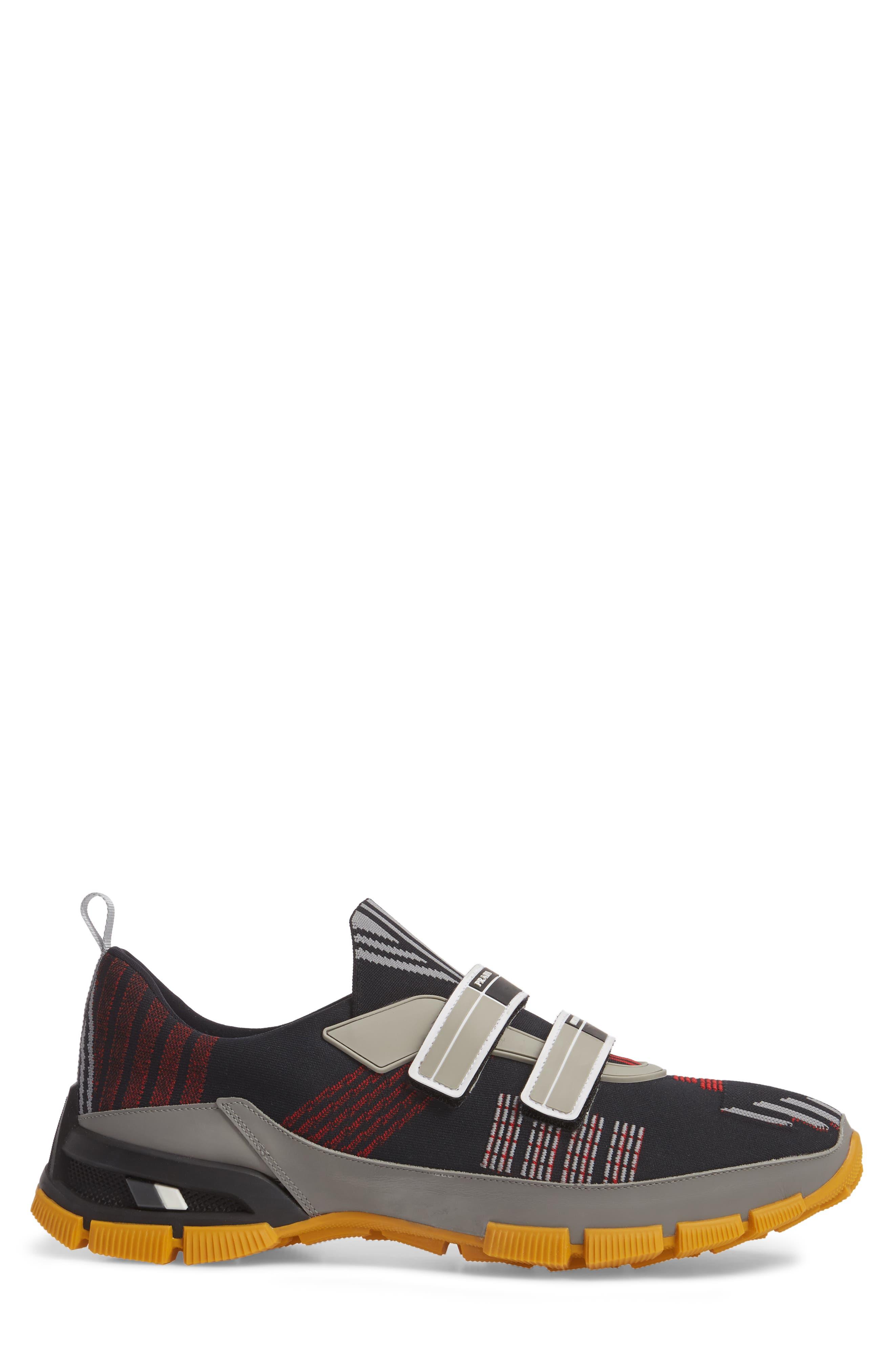 Linea Rossa Strap Sneaker,                             Alternate thumbnail 3, color,                             001