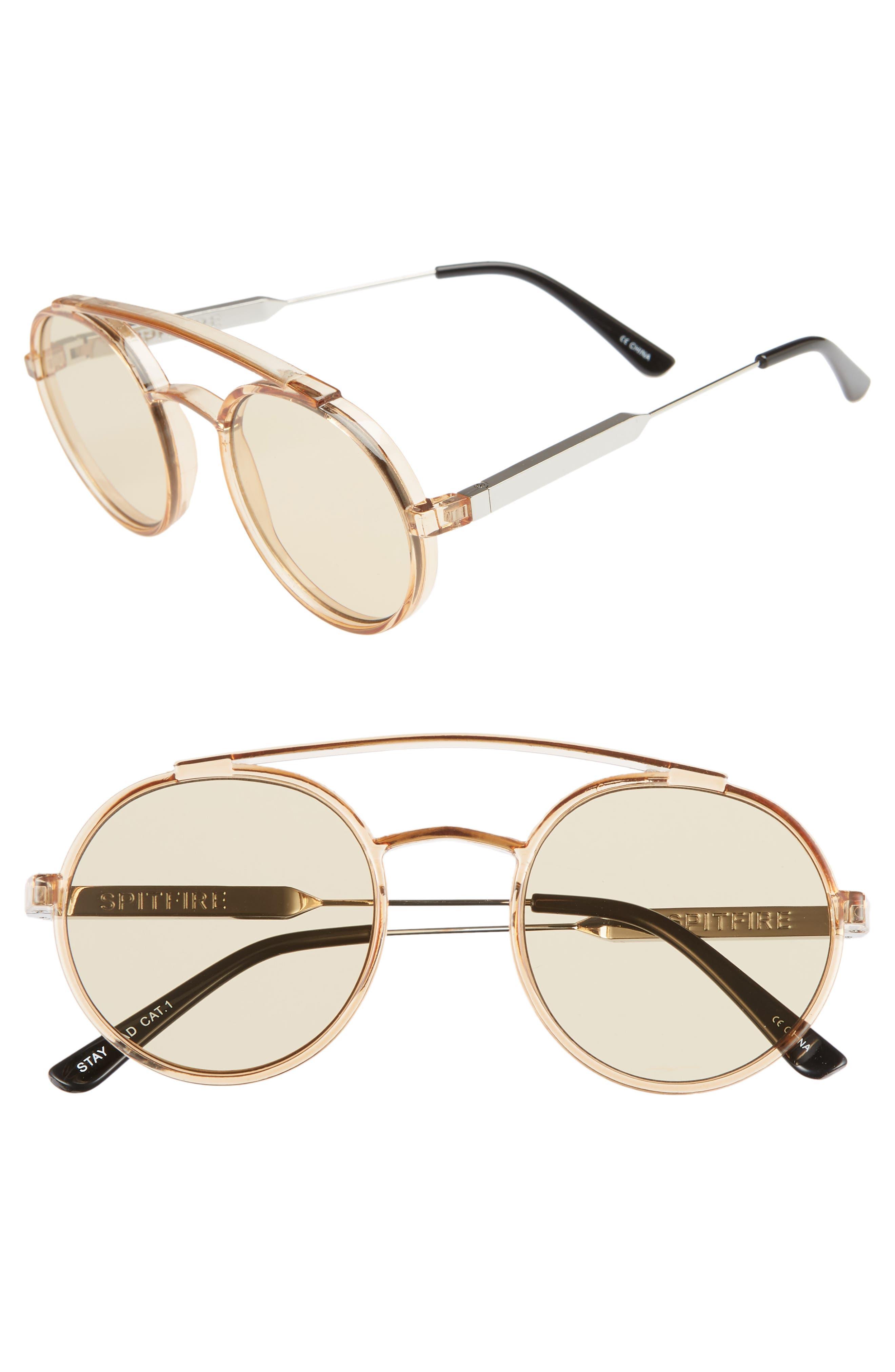 SPITFIRE Stay Rad 53Mm Round Sunglasses - Tan/ Tan