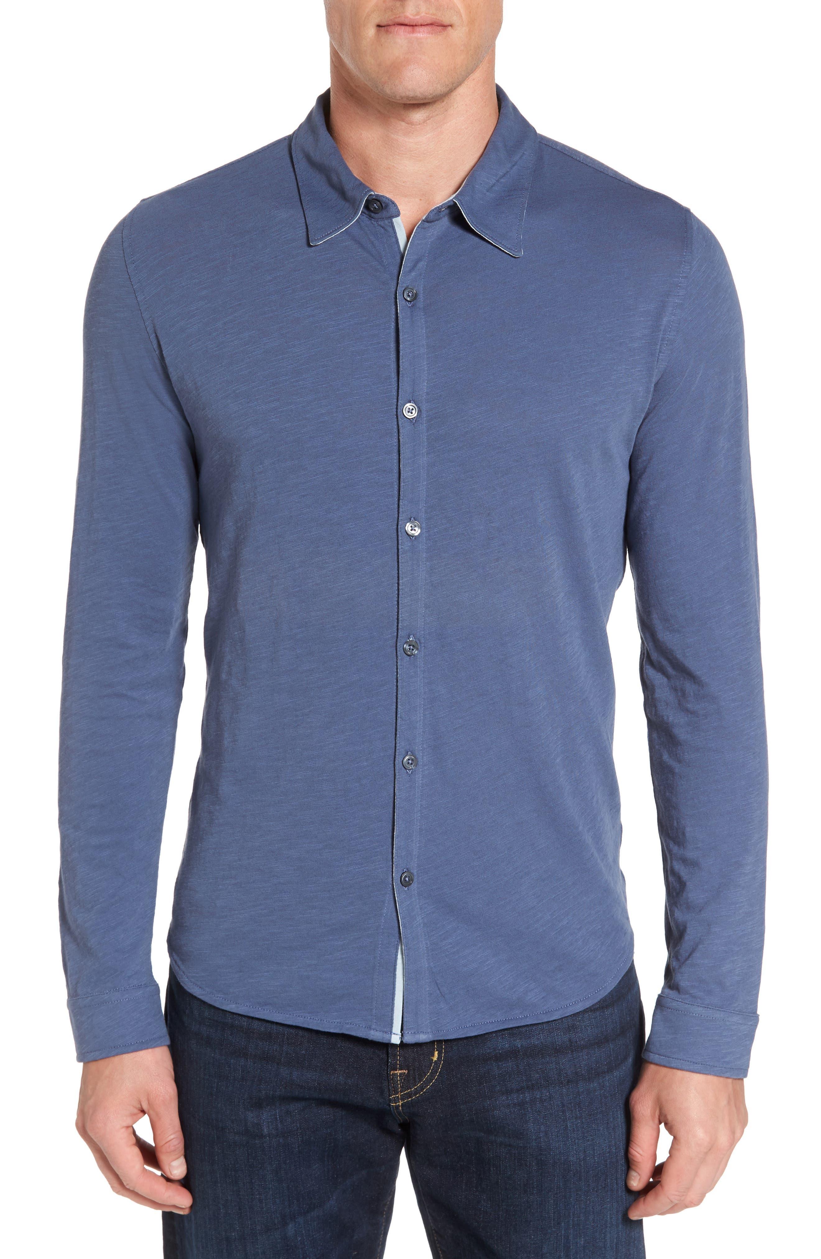 Camara Trim Fit Knit Sport Shirt,                             Main thumbnail 3, color,