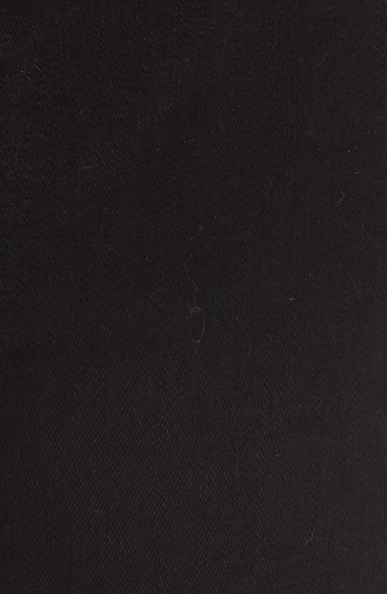 FRAME,                             Ali High Waist Cigarette Jeans,                             Alternate thumbnail 6, color,                             NOIR