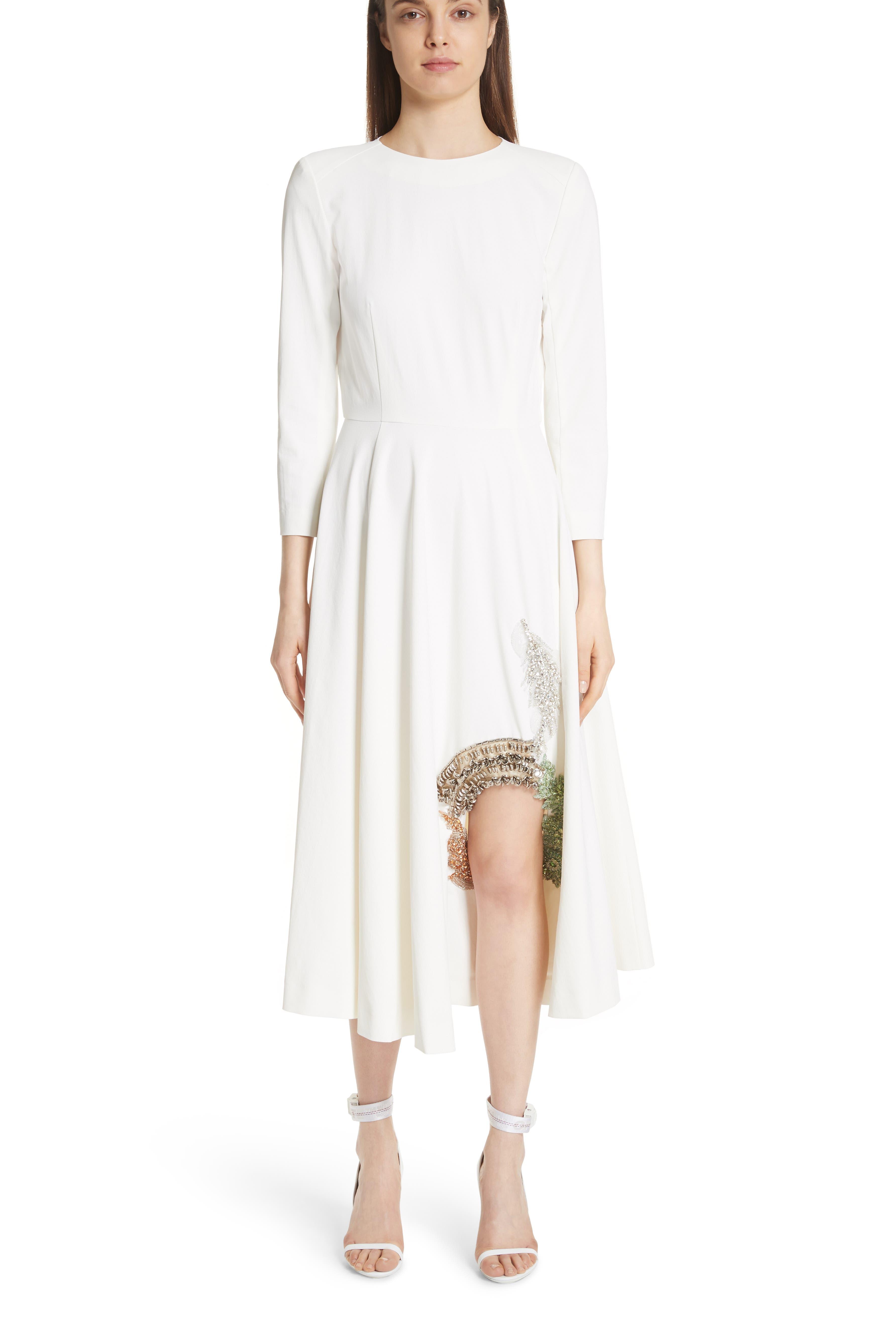 TOGA,                             Beaded Keyhole Dress,                             Alternate thumbnail 5, color,                             100