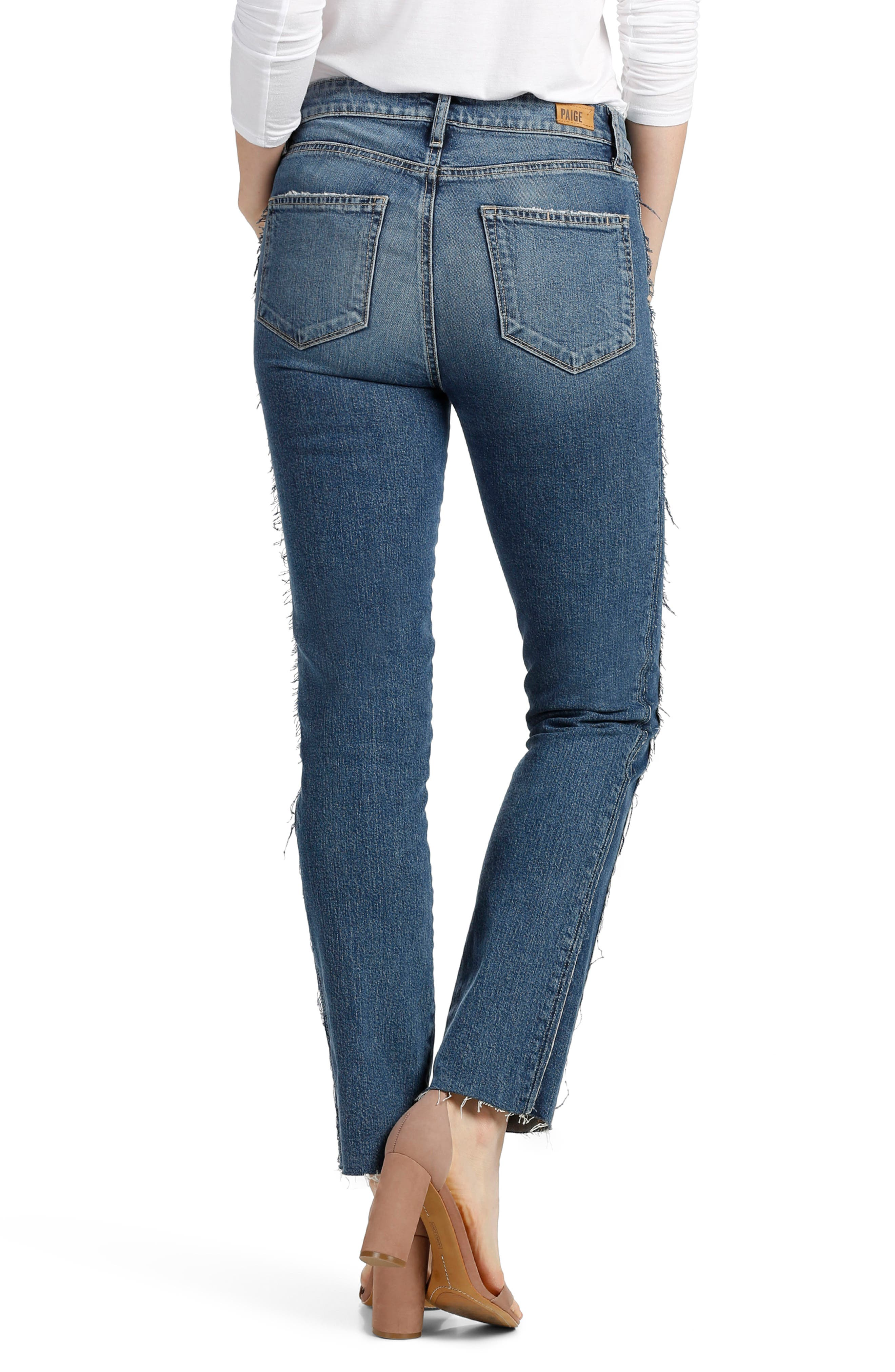 Legacy - Julia Tuxedo Stripe Raw Straight Leg Jeans,                             Alternate thumbnail 3, color,                             400