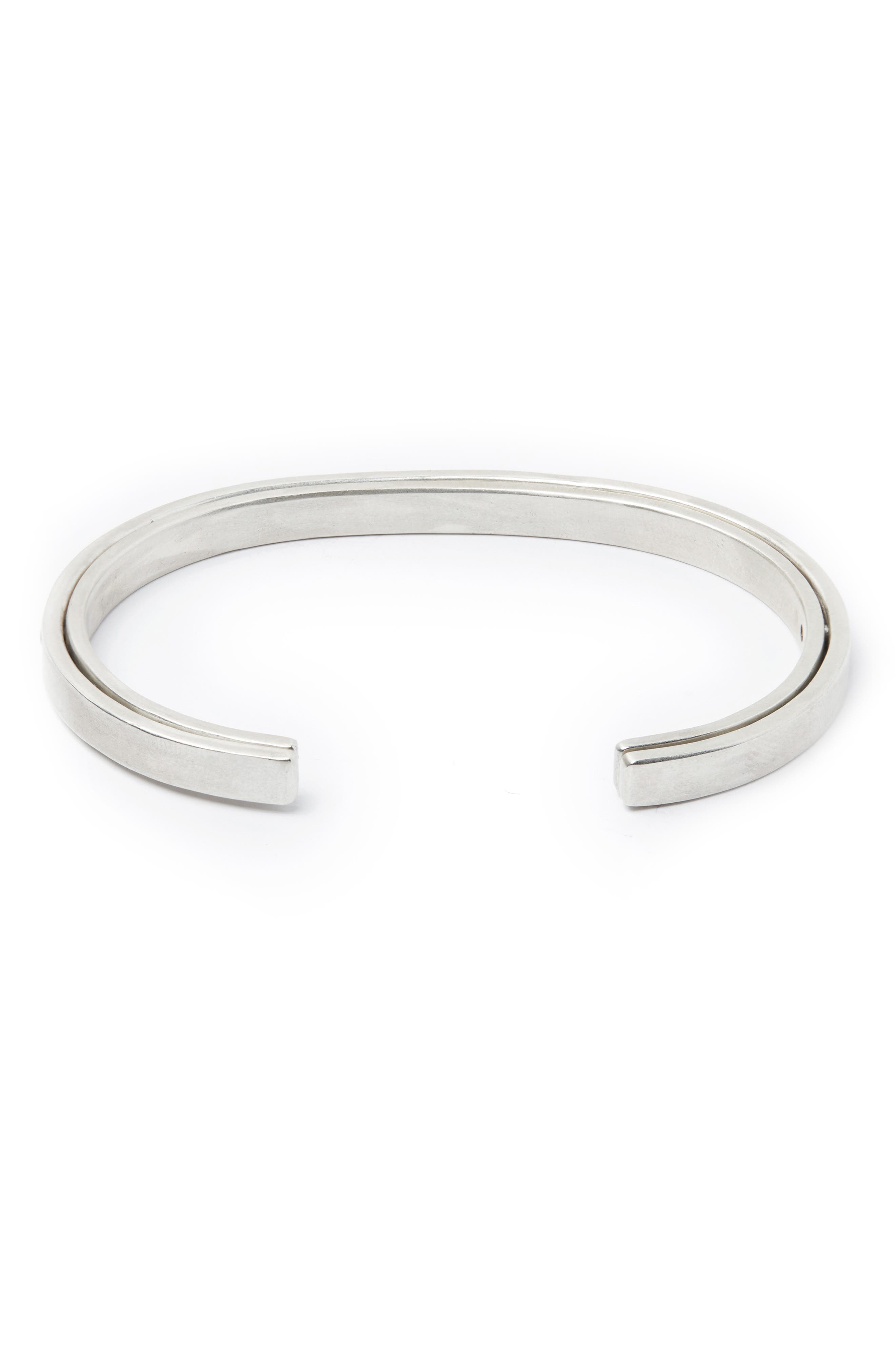 Sterling Silver Cuff Bracelet,                             Main thumbnail 1, color,                             SILVER