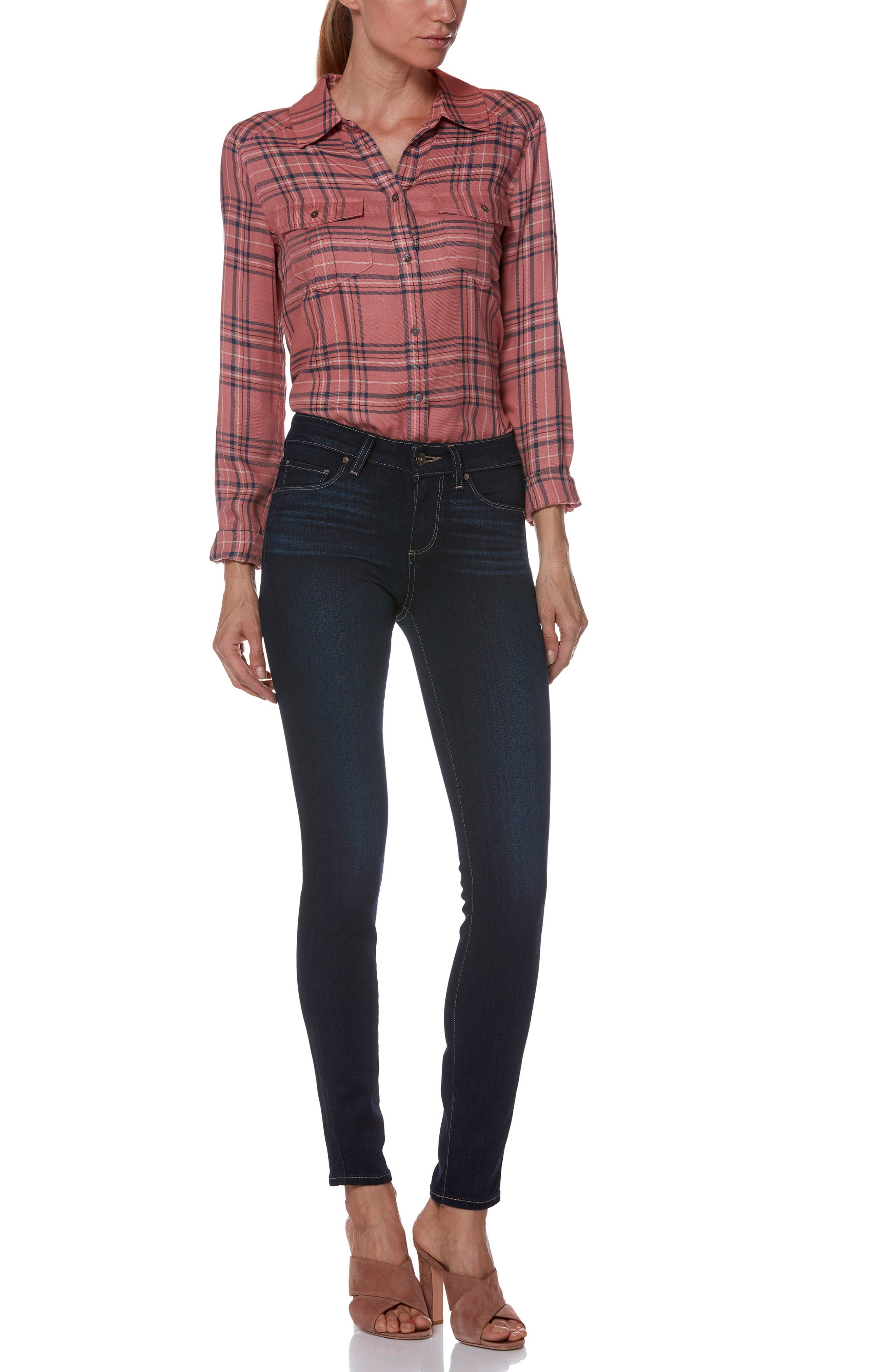 PAIGE,                             Transcend - Verdugo Ultra Skinny Jeans,                             Alternate thumbnail 7, color,                             ACADIA