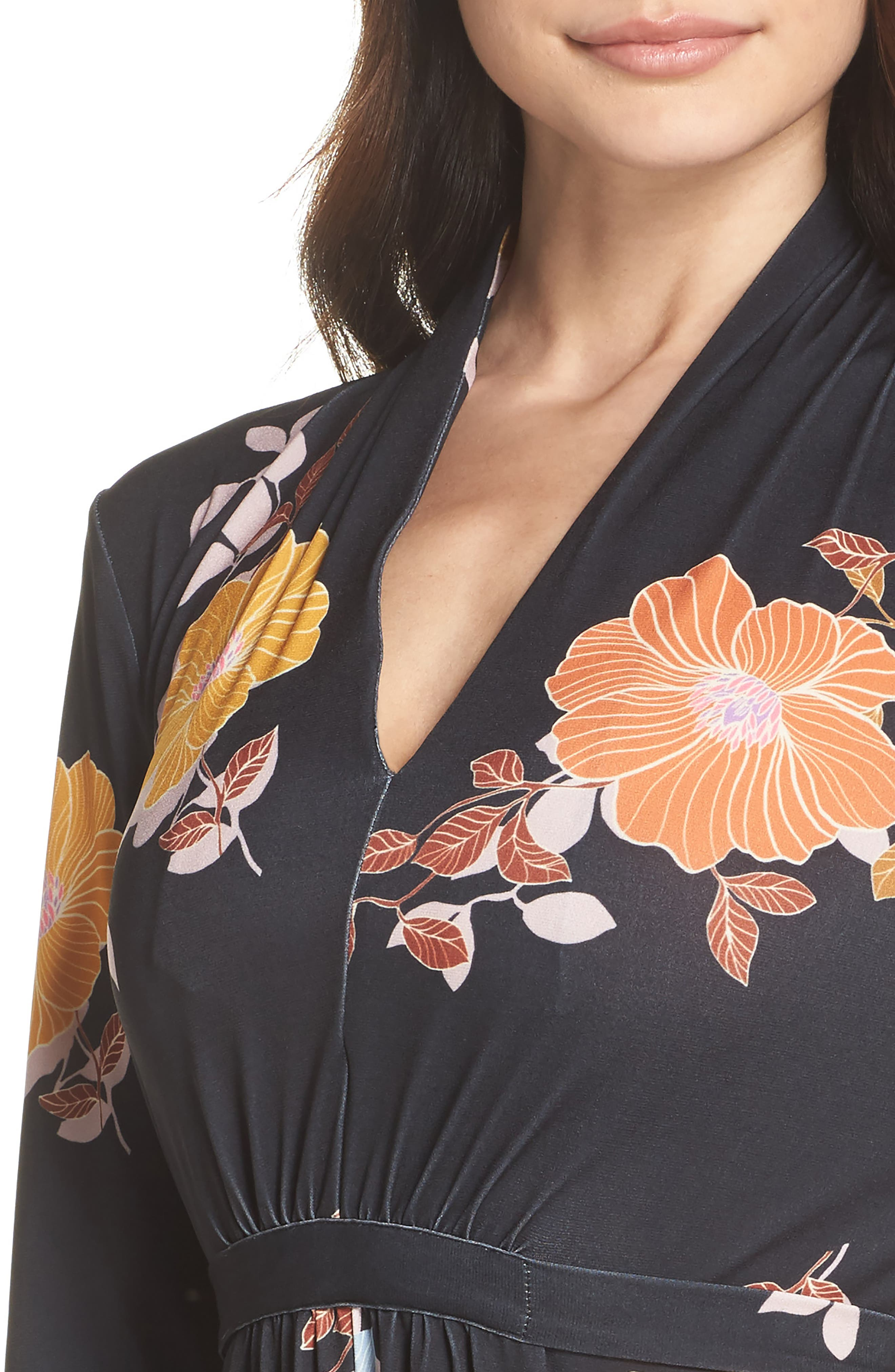Shikoku Floral Dress,                             Alternate thumbnail 4, color,                             015