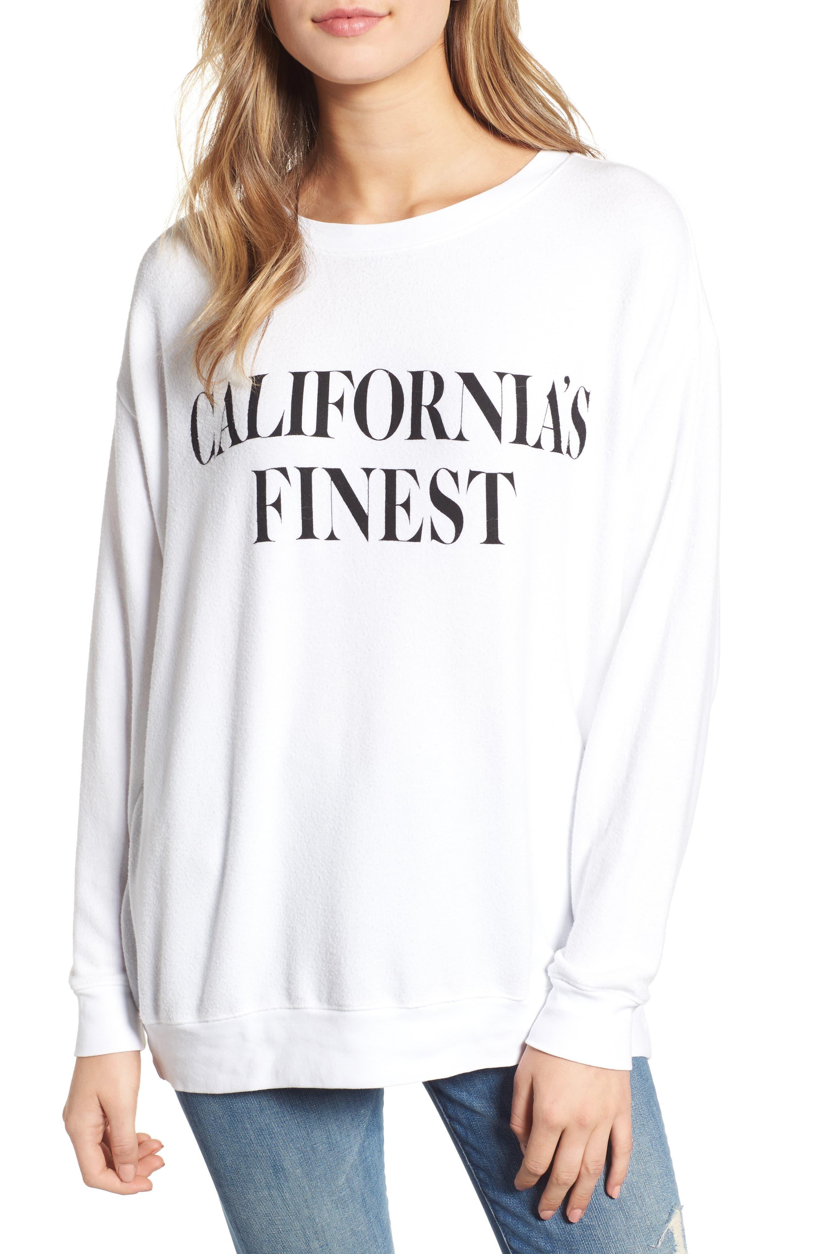 WILDFOX Roadtrip - California's Finest Pullover, Main, color, 100
