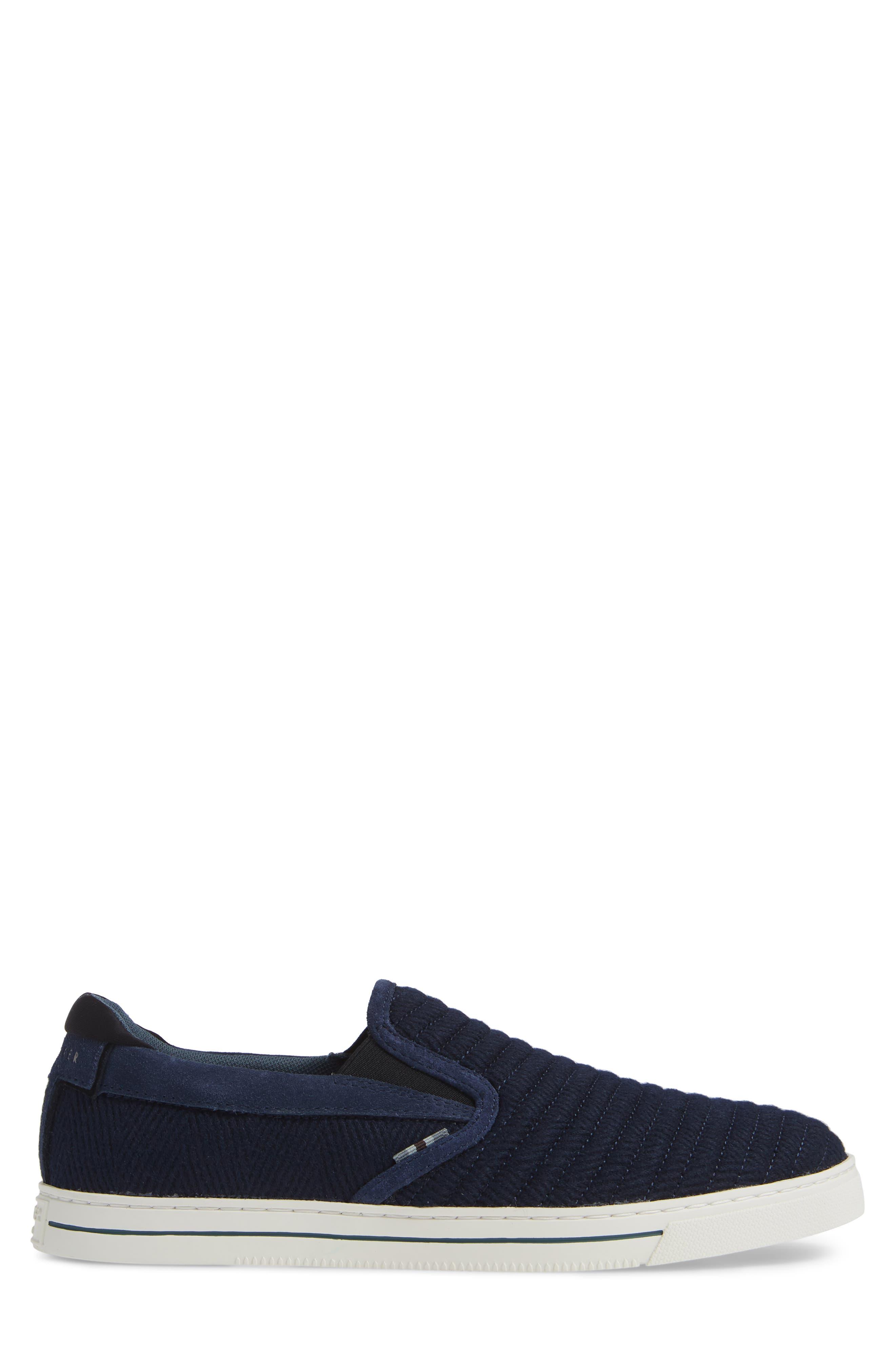 Daniam Slip-On Sneaker,                             Alternate thumbnail 3, color,                             DARK BLUE WOOL