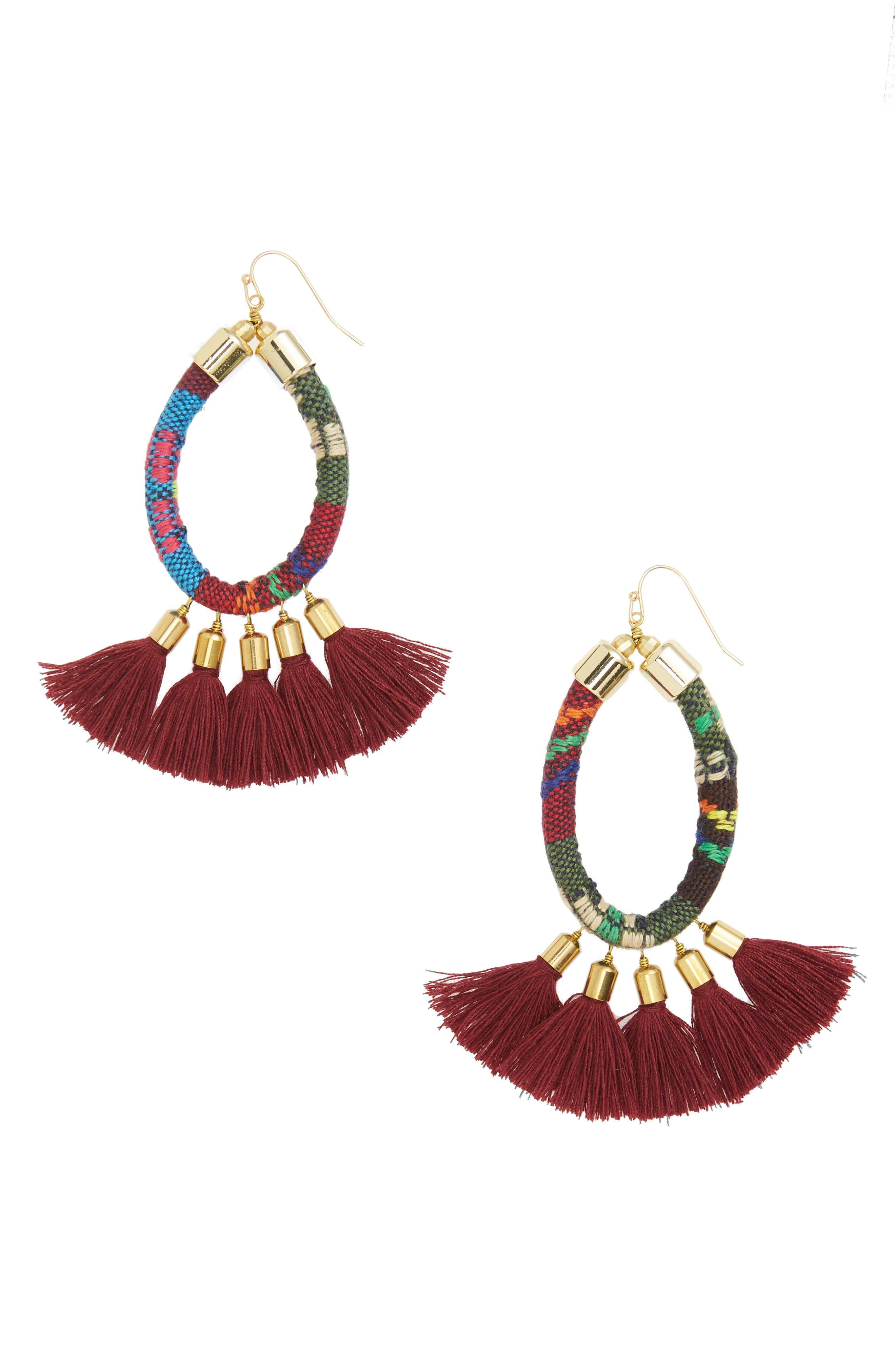 Tassel Earrings,                         Main,                         color, 930