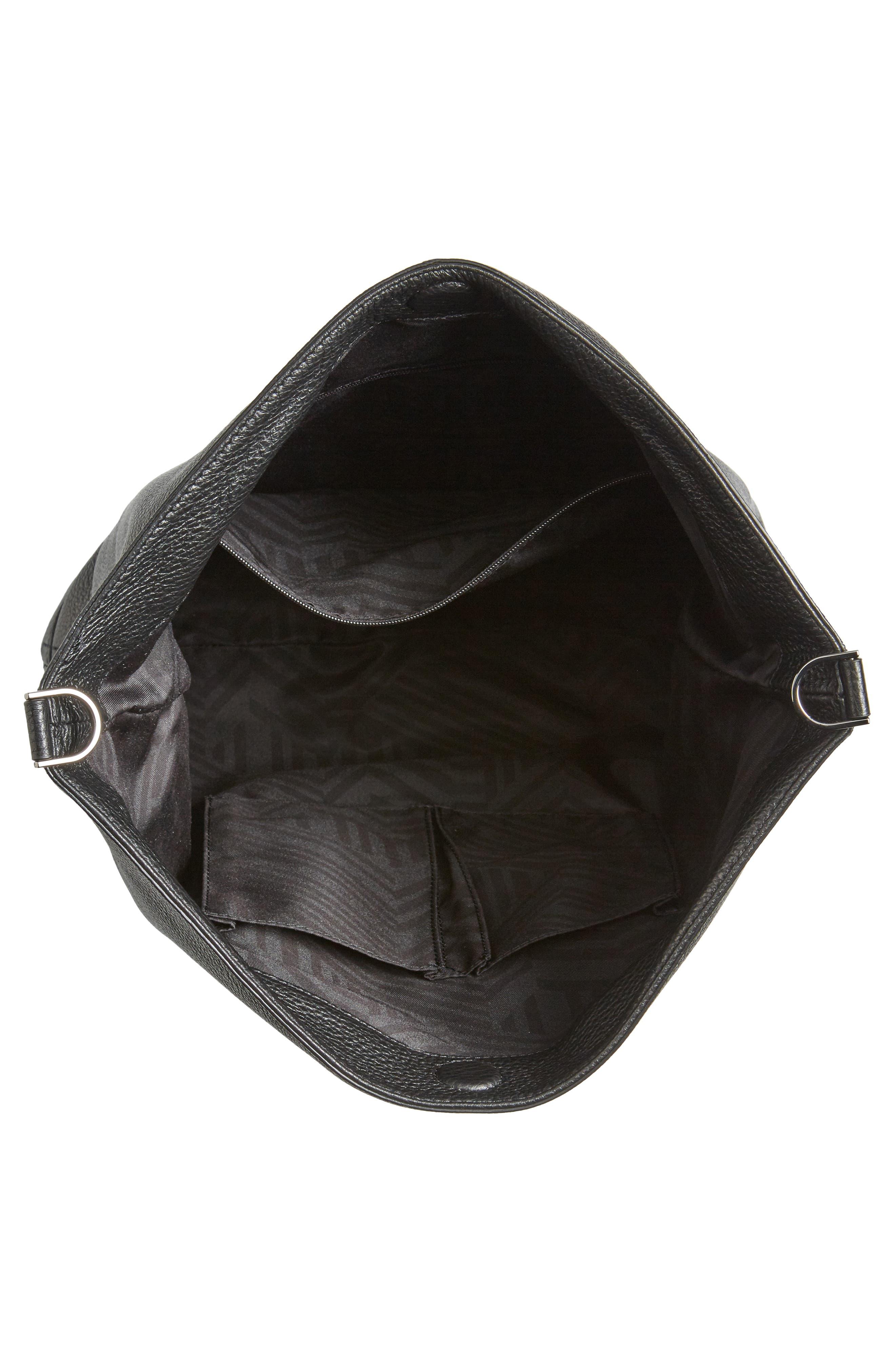 Slim Regan Hobo Bag,                             Alternate thumbnail 4, color,                             BLACK