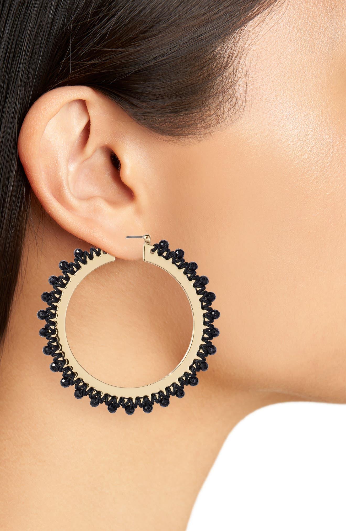 wrap it up hoop earrings,                             Alternate thumbnail 3, color,                             001