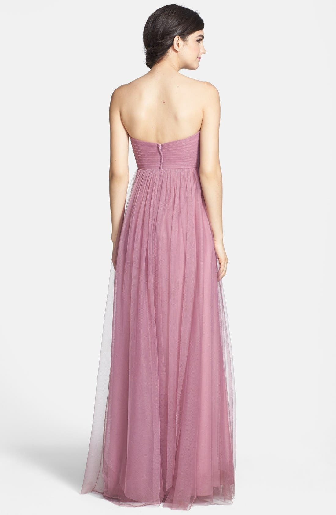 Annabelle Convertible Tulle Column Dress,                             Alternate thumbnail 86, color,