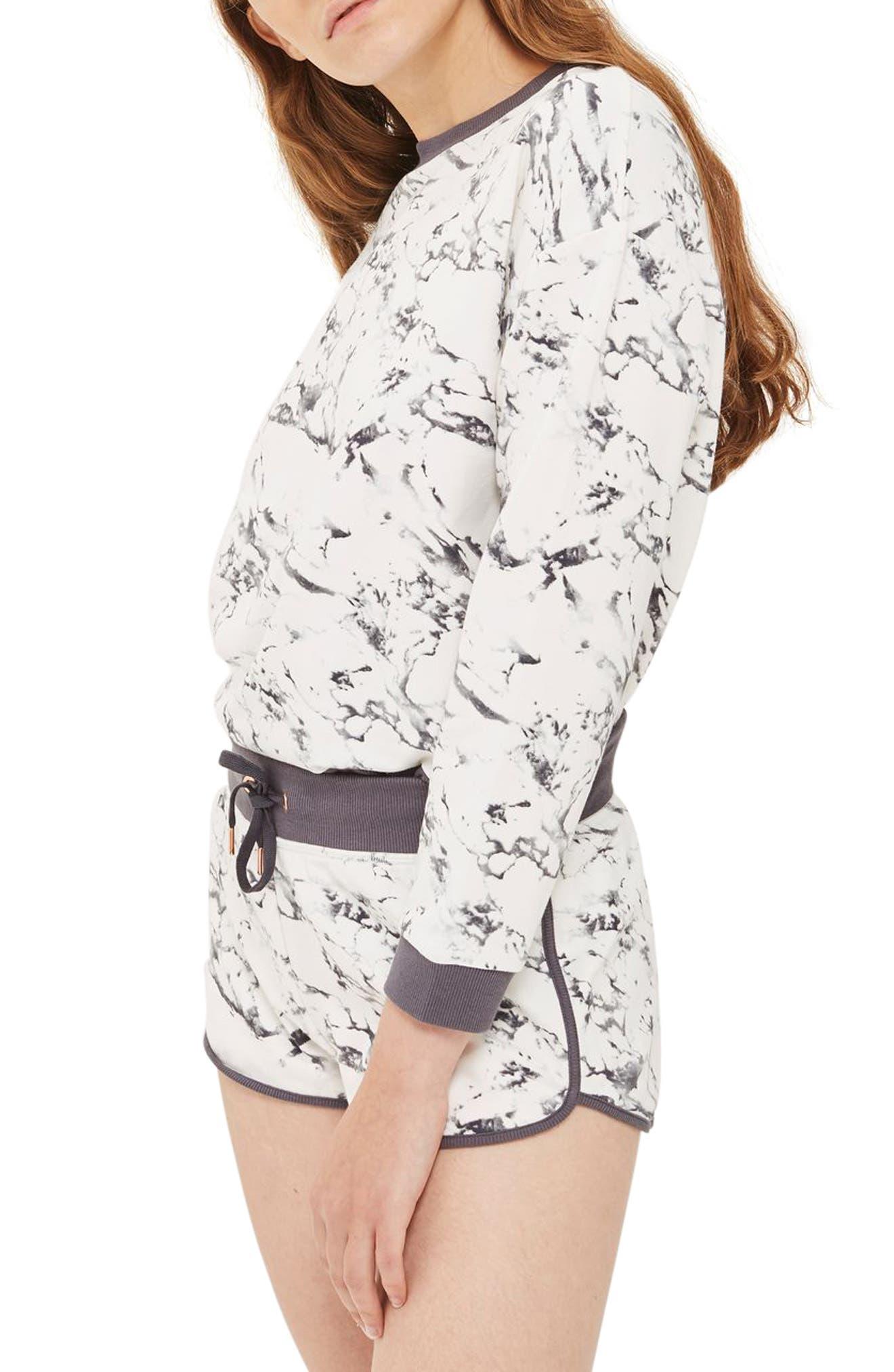 Marble Print Shorts,                         Main,                         color,