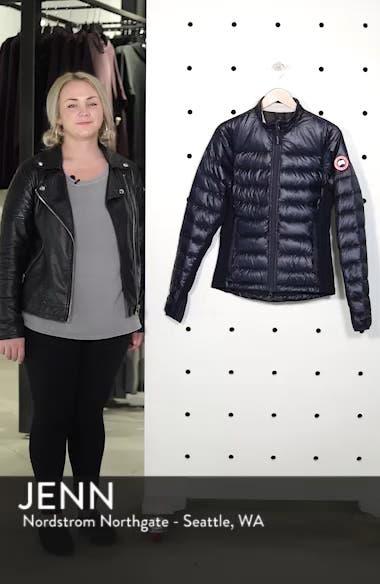 'Hybridge Lite' Slim Fit Mixed Media Down Jacket, sales video thumbnail
