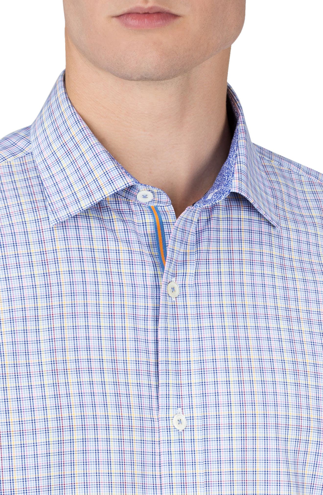 Classic Fit Check Sport Shirt,                             Alternate thumbnail 3, color,                             459