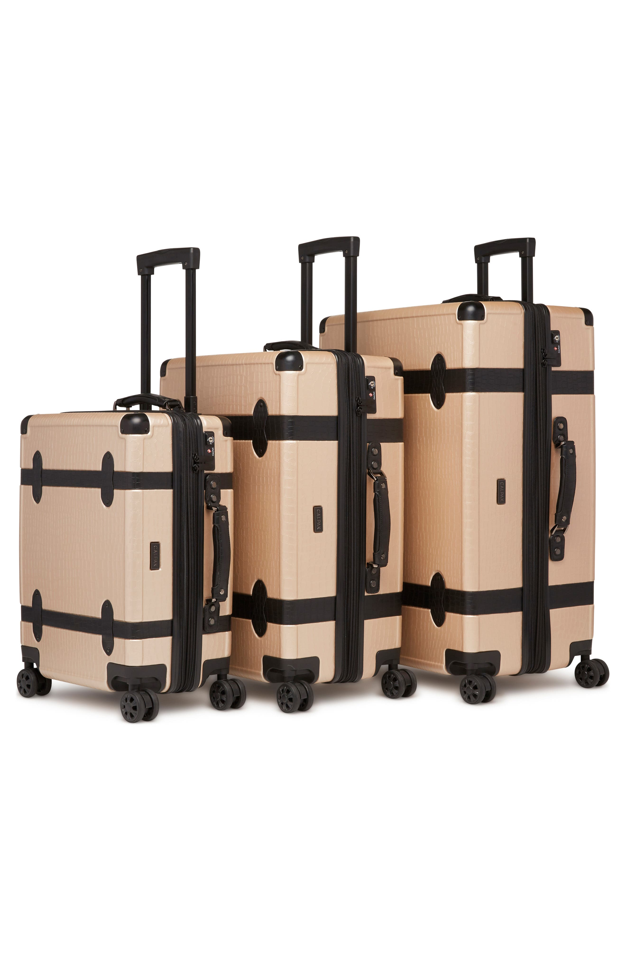 Pullman 3-Piece Spinner Luggage Set,                             Alternate thumbnail 2, color,                             NUDE