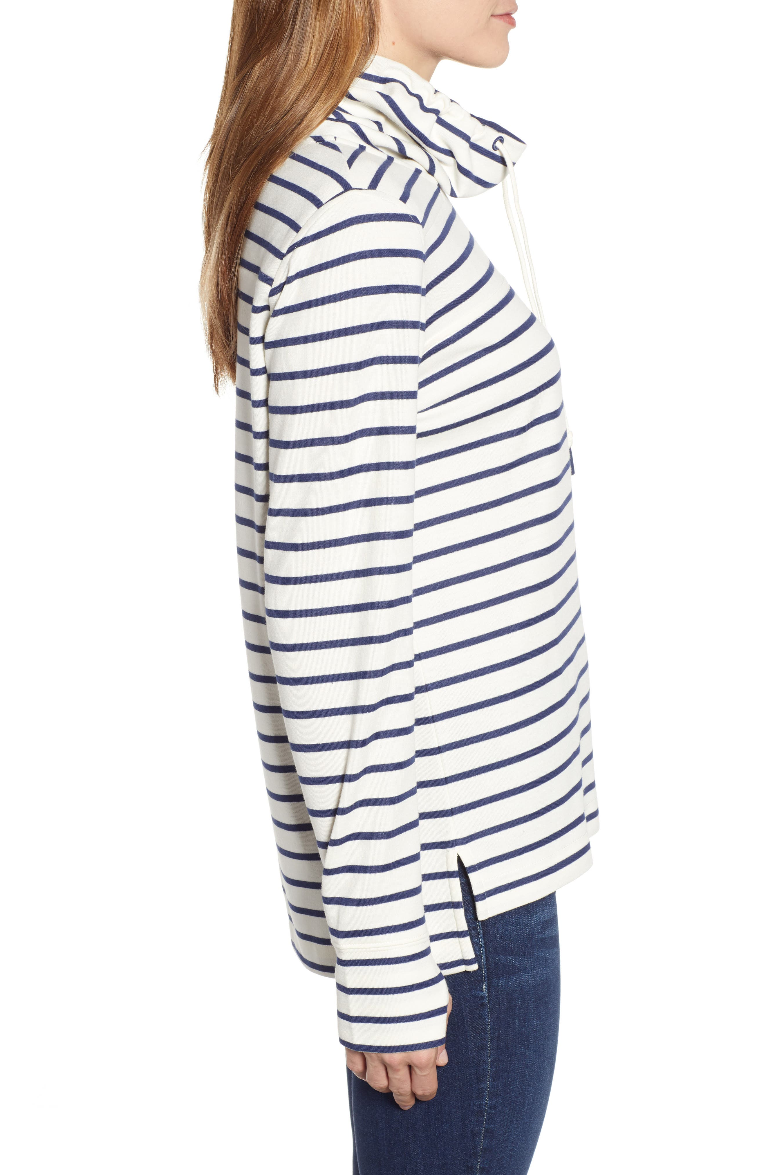 Relaxed Fit Stripe Pullover,                             Alternate thumbnail 3, color,                             907